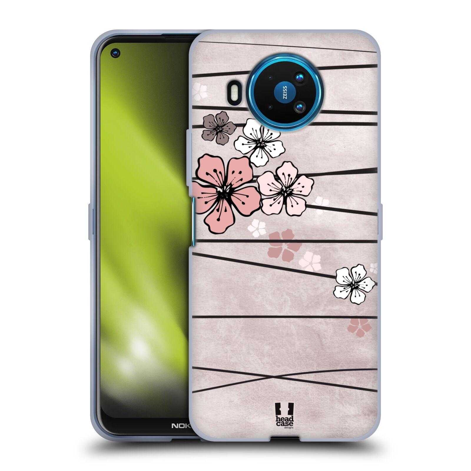 Silikonové pouzdro na mobil Nokia 8.3 5G - Head Case - BLOSSOMS PAPER