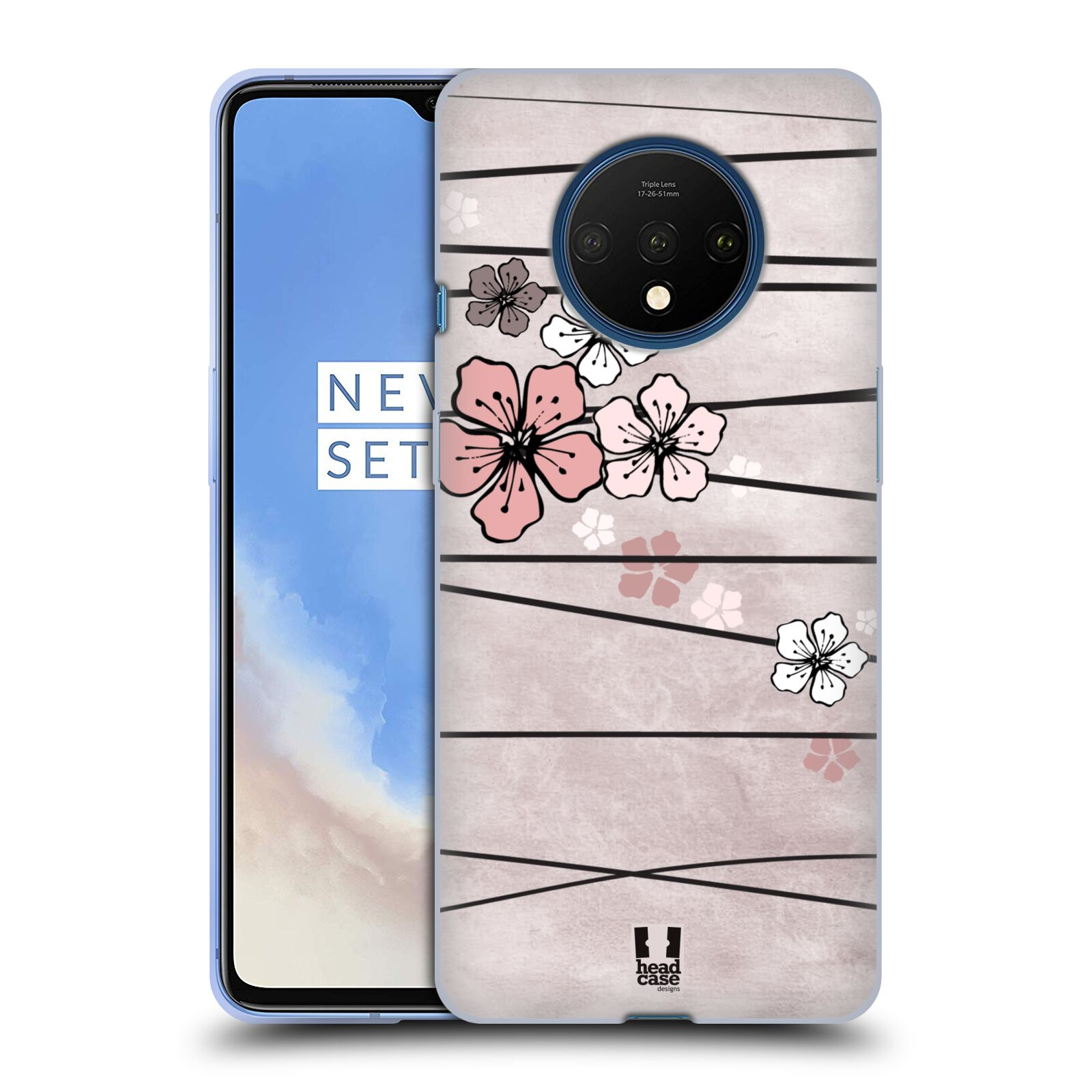 Silikonové pouzdro na mobil OnePlus 7T - Head Case - BLOSSOMS PAPER