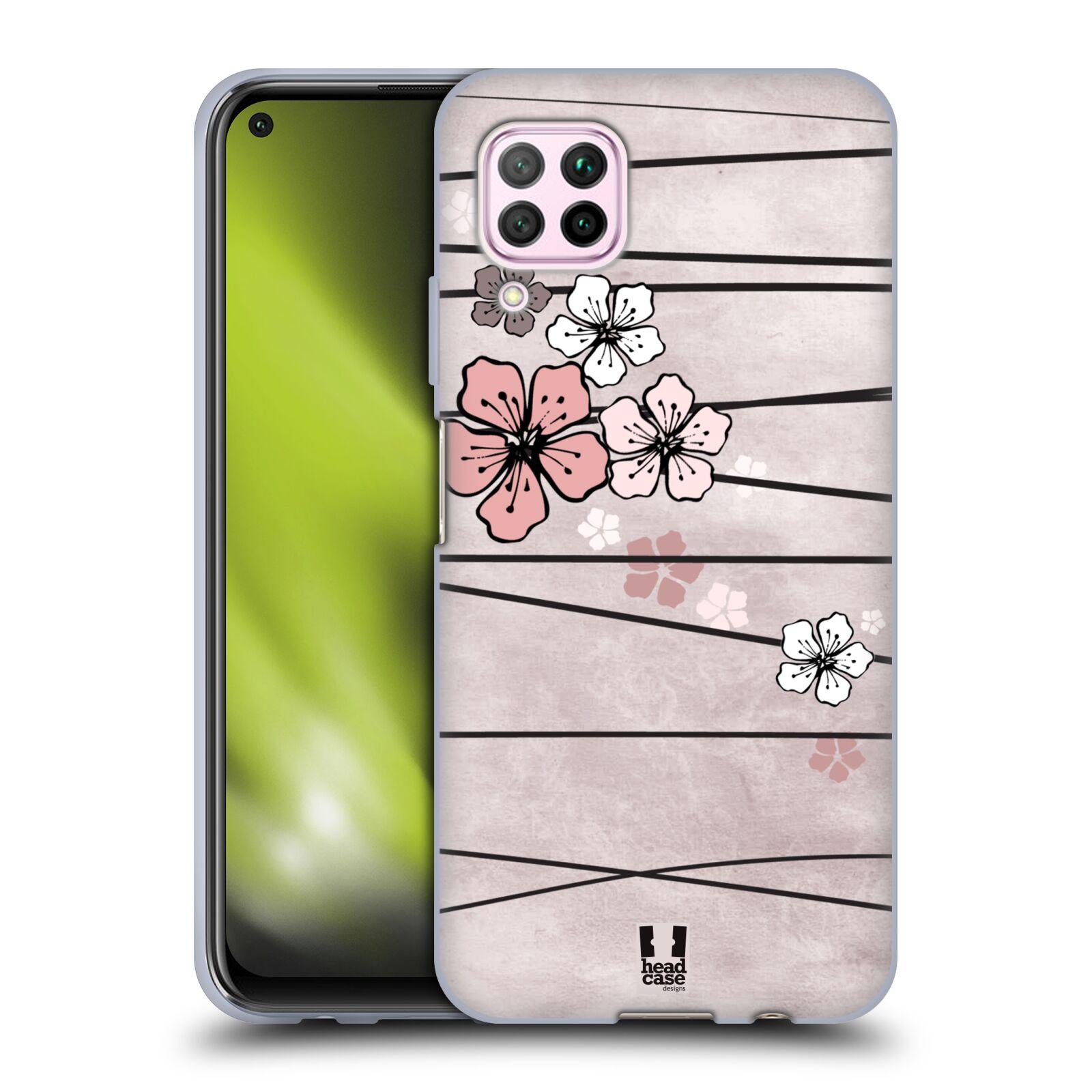 Silikonové pouzdro na mobil Huawei P40 Lite - Head Case - BLOSSOMS PAPER