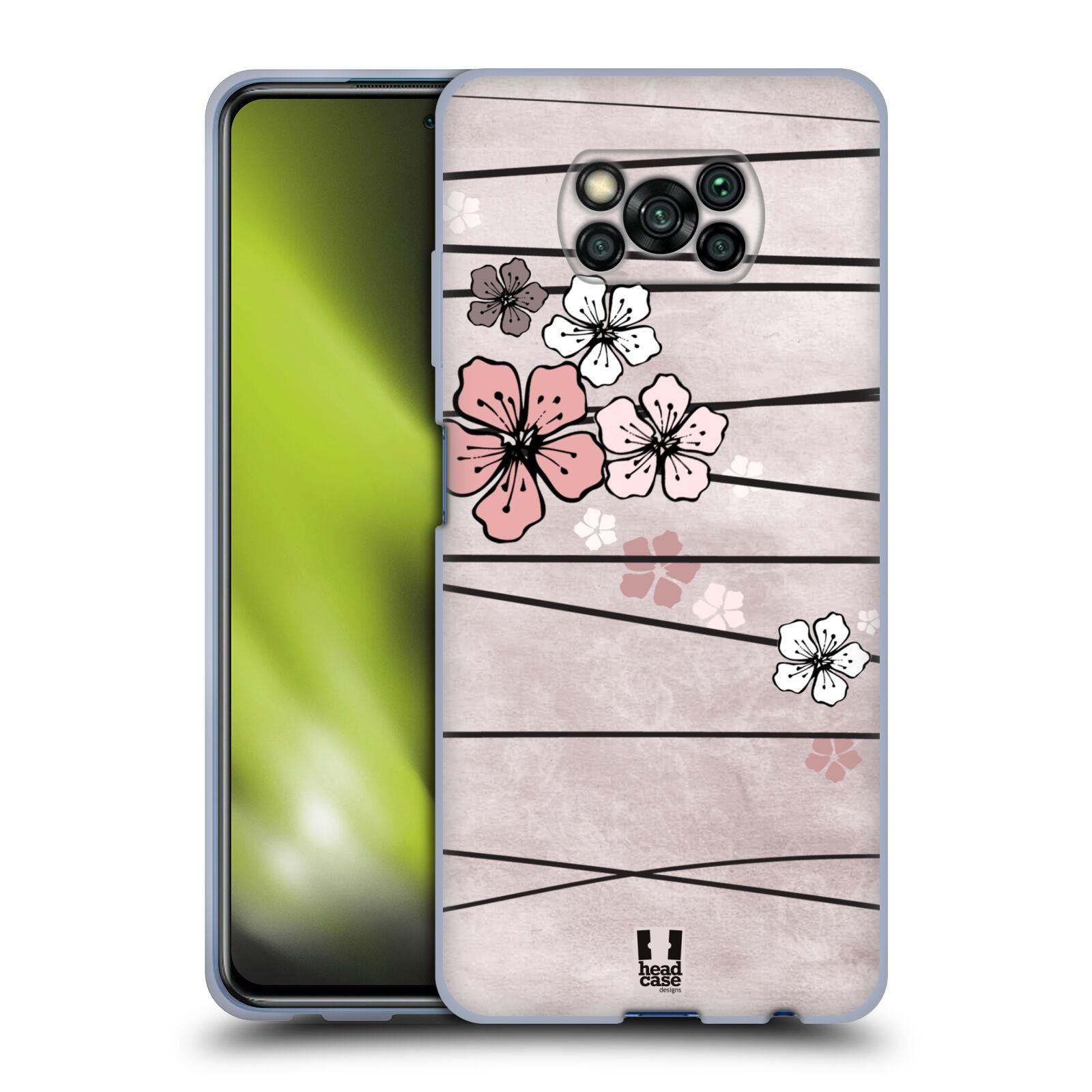 Silikonové pouzdro na mobil Xiaomi Poco X3 NFC - Head Case - BLOSSOMS PAPER