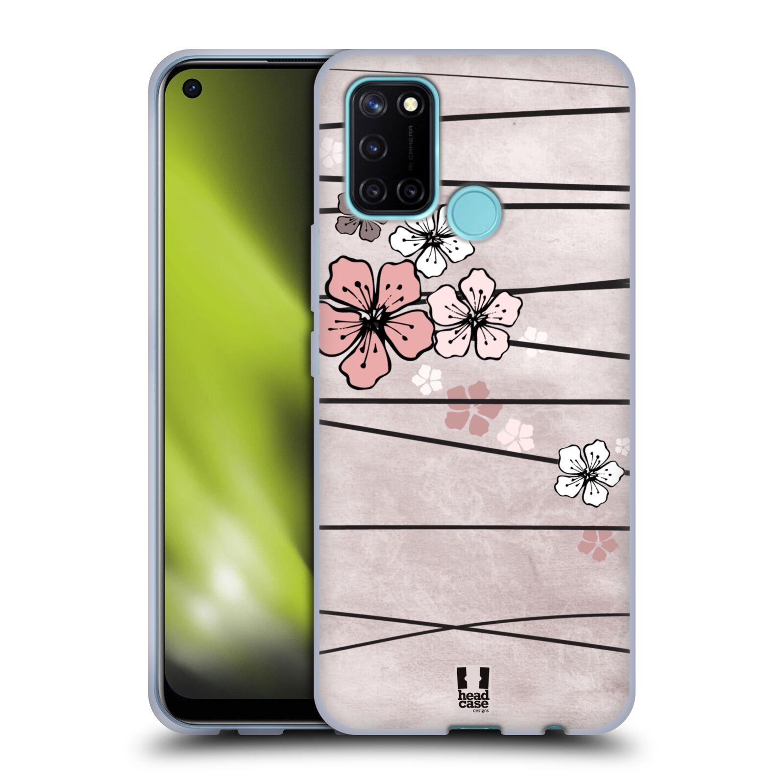 Silikonové pouzdro na mobil Realme 7i - Head Case - BLOSSOMS PAPER