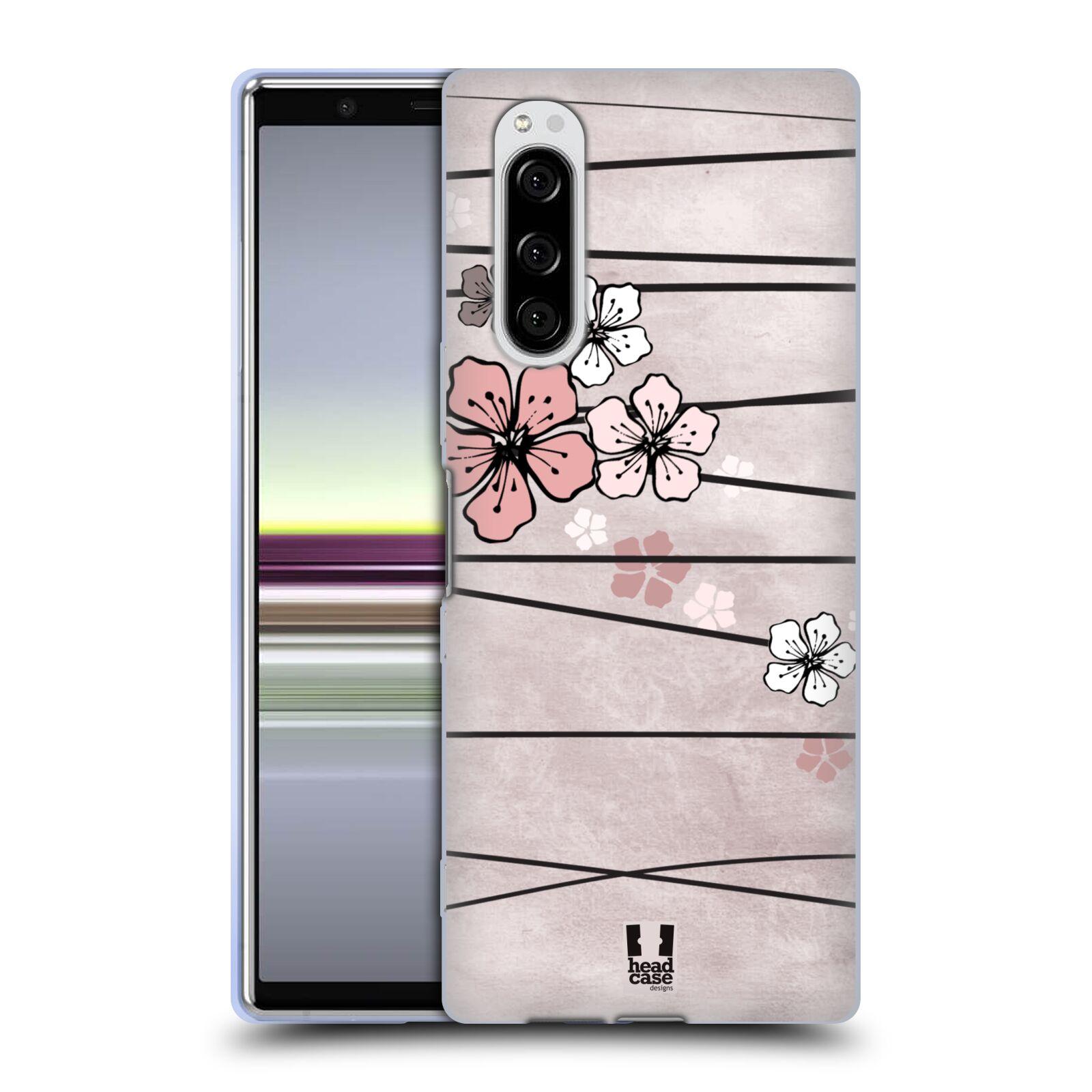 Silikonové pouzdro na mobil Sony Xperia 5 - Head Case - BLOSSOMS PAPER