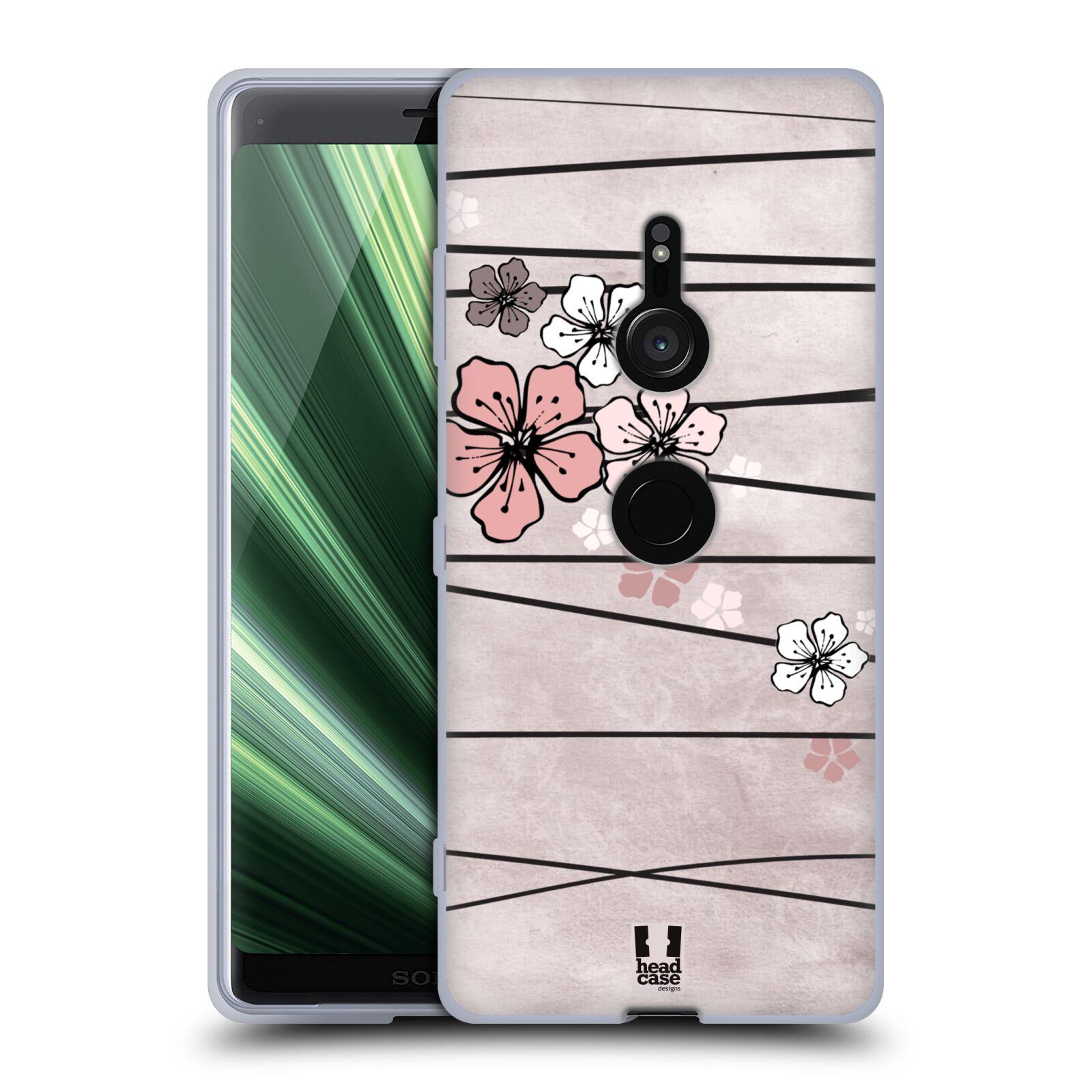 Silikonové pouzdro na mobil Sony Xperia XZ3 - Head Case - BLOSSOMS PAPER