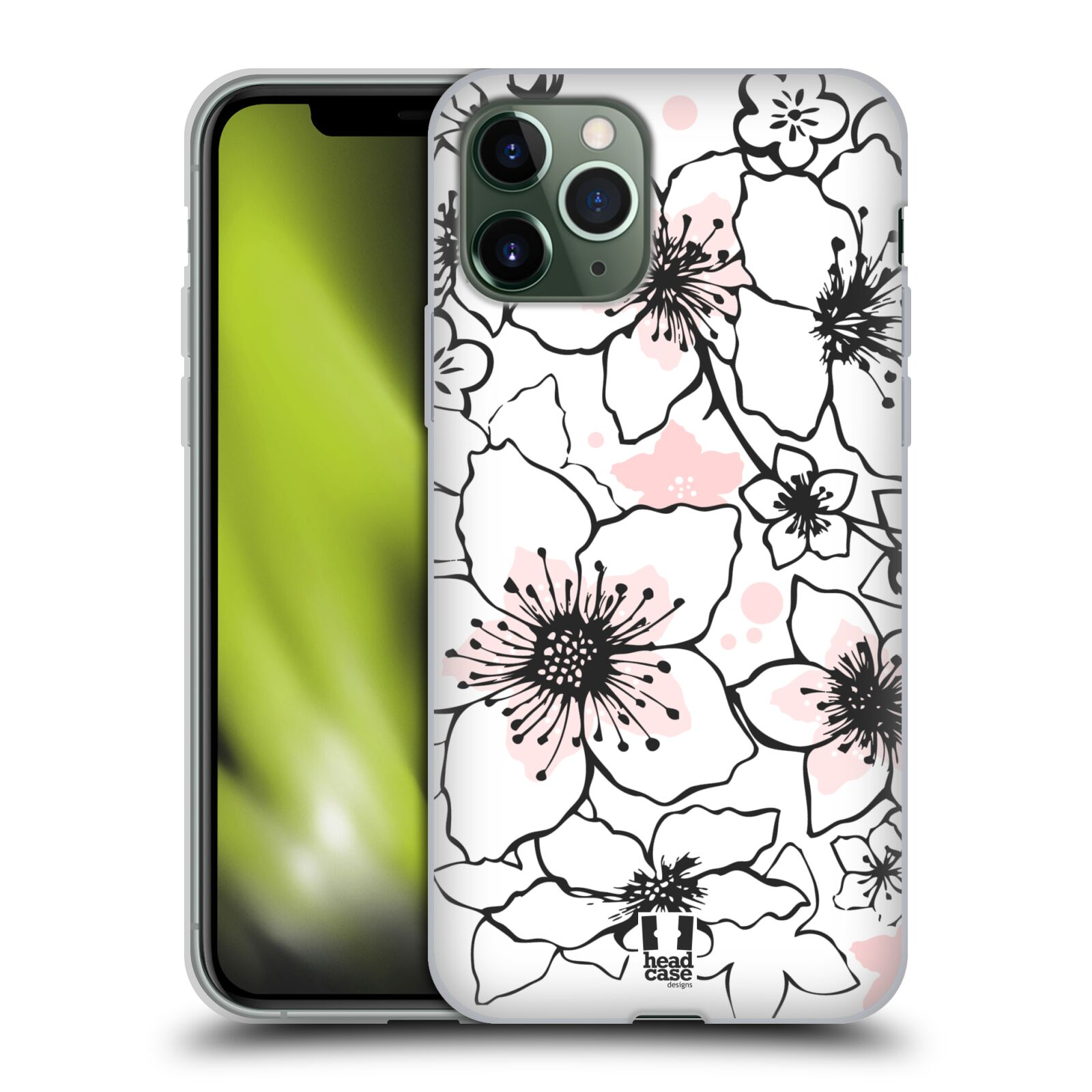 co je iphone | Silikonové pouzdro na mobil Apple iPhone 11 Pro - Head Case - BLOSSOMS SPRINGTIME