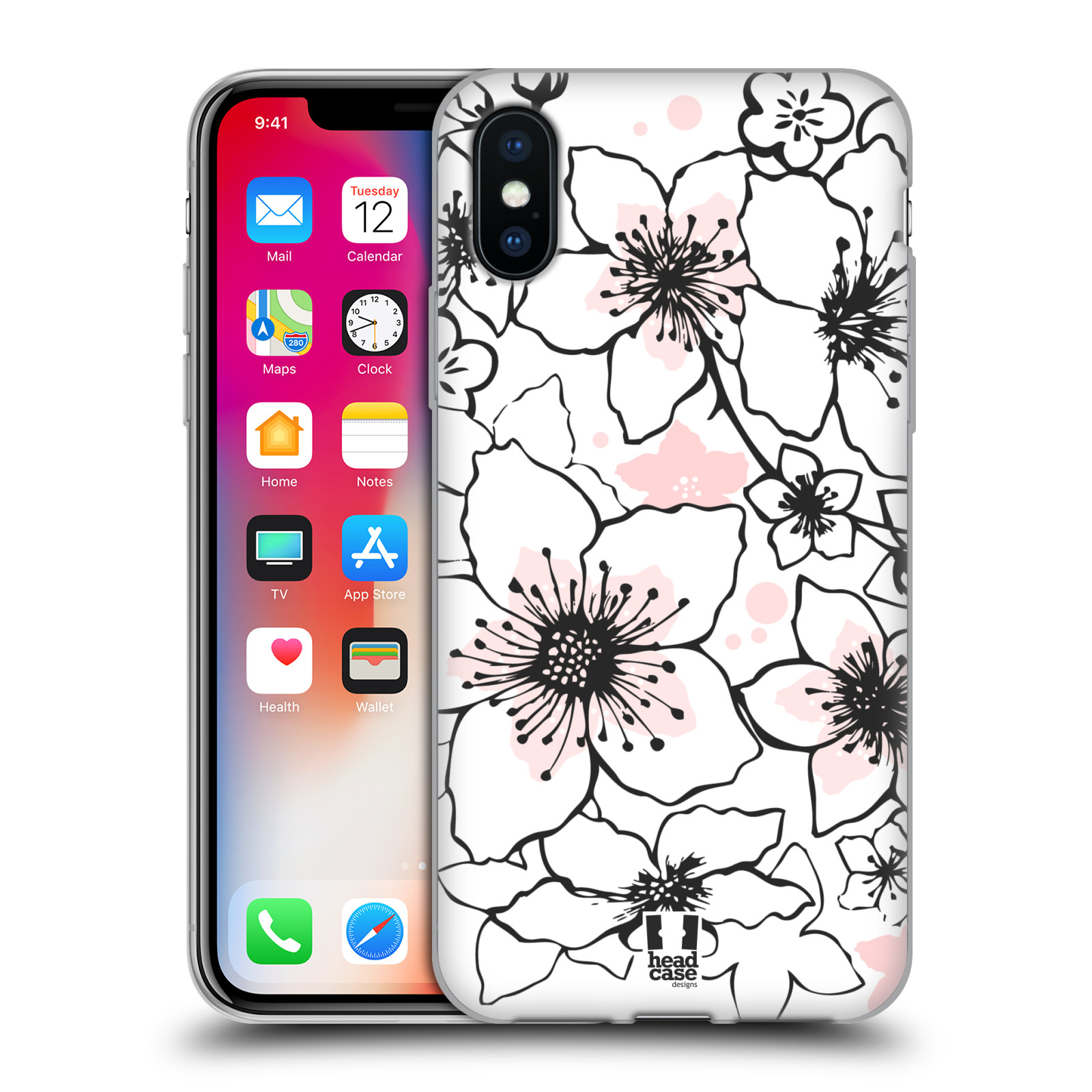 Silikonové pouzdro na mobil Apple iPhone XS - Head Case - BLOSSOMS SPRINGTIME