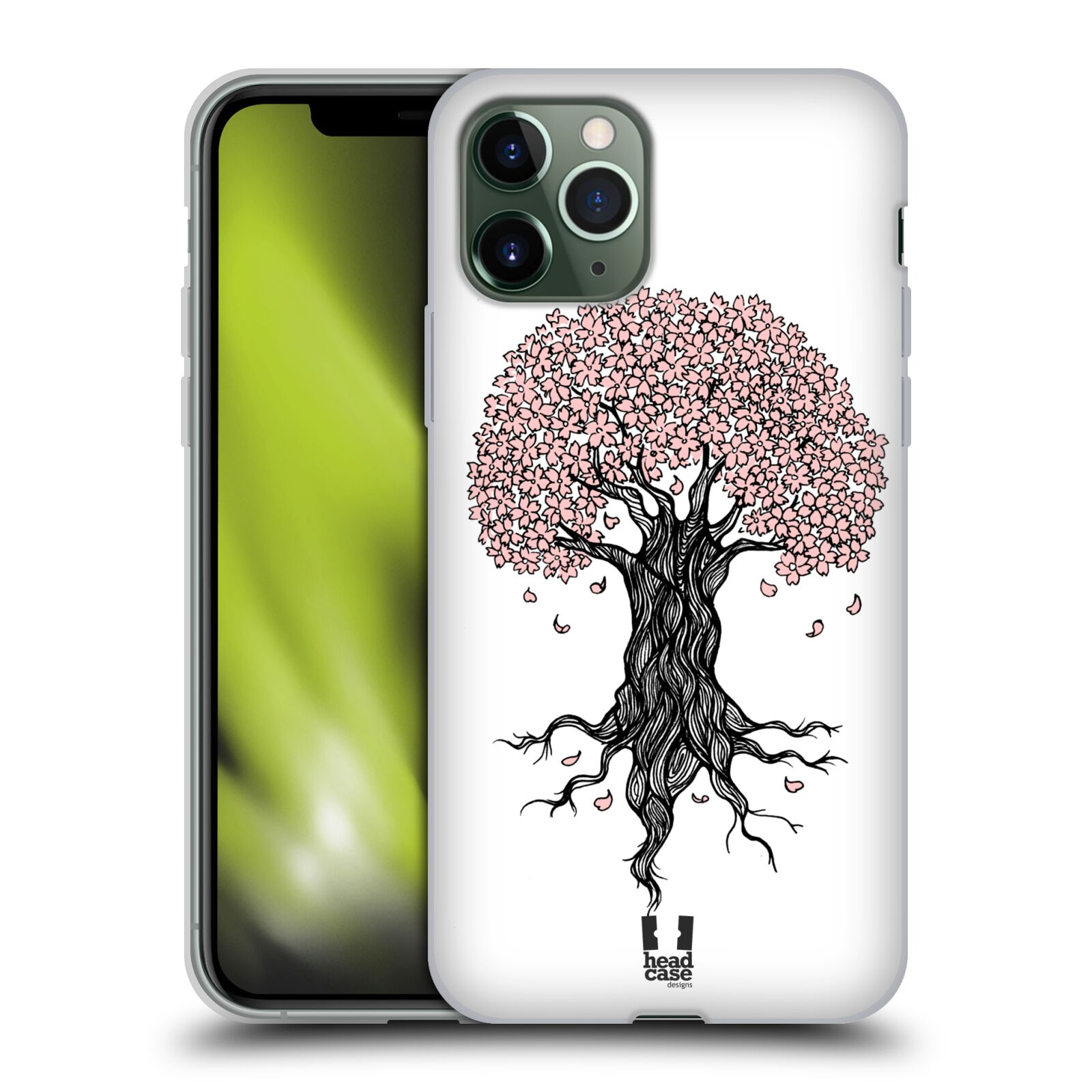 kryt na iphone 7 silikon , Silikonové pouzdro na mobil Apple iPhone 11 Pro - Head Case - BLOSSOMS TREE