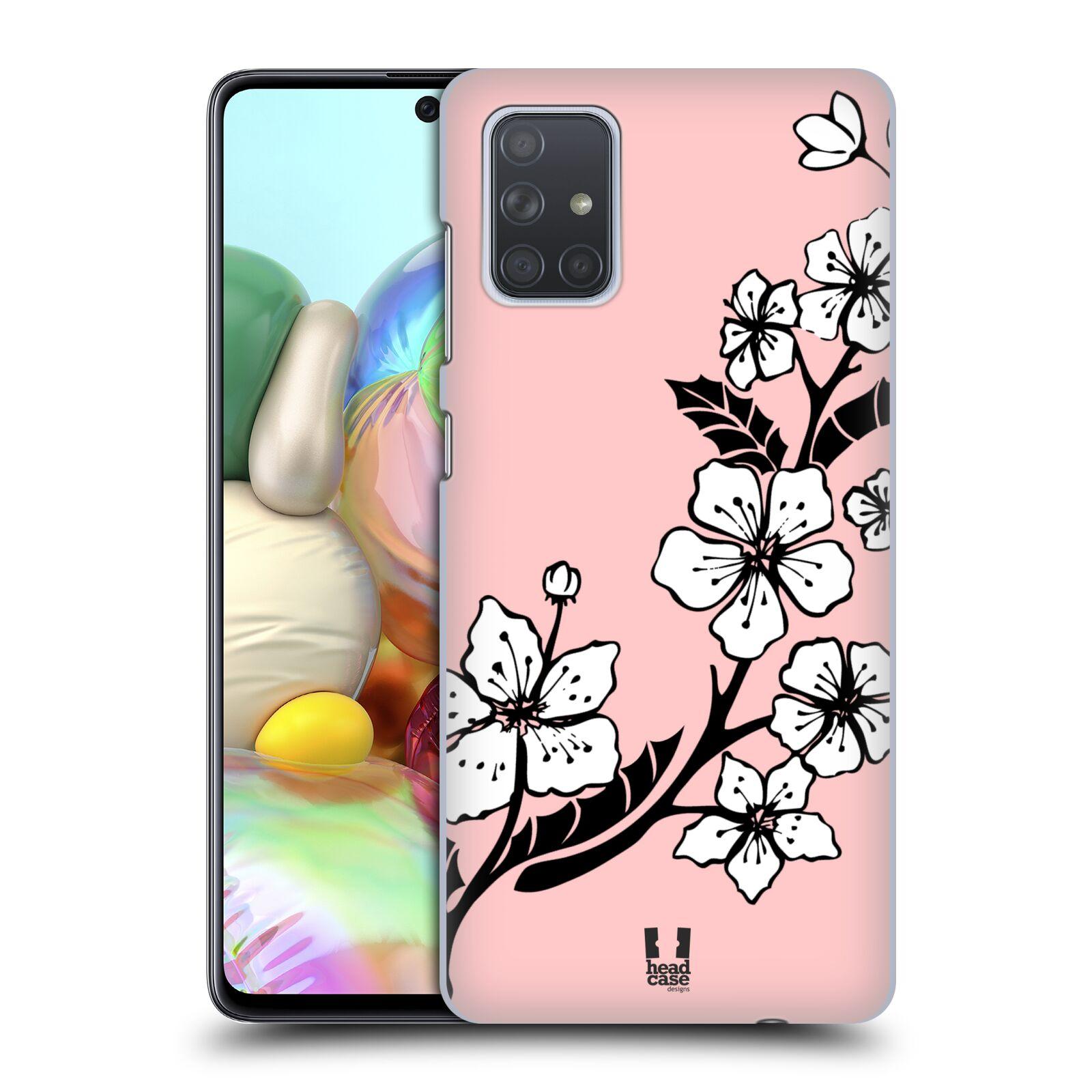 Plastové pouzdro na mobil Samsung Galaxy A71 - Head Case - BLOSSOMS VINE