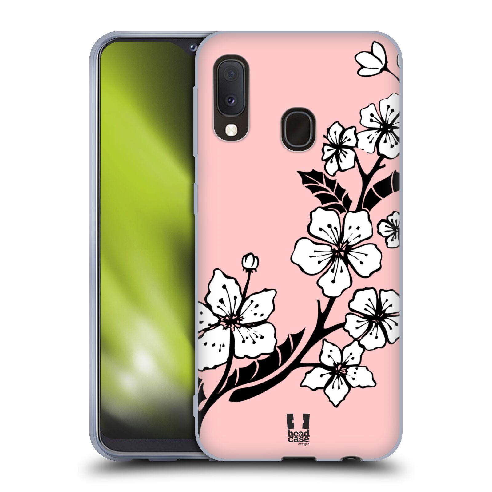 Silikonové pouzdro na mobil Samsung Galaxy A20e - Head Case - BLOSSOMS VINE