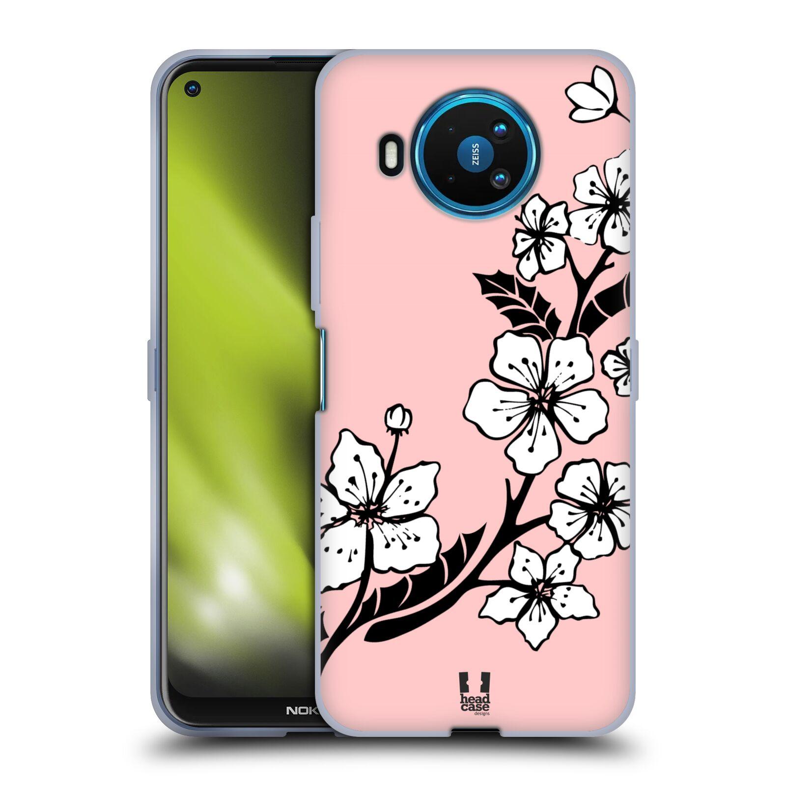 Silikonové pouzdro na mobil Nokia 8.3 5G - Head Case - BLOSSOMS VINE