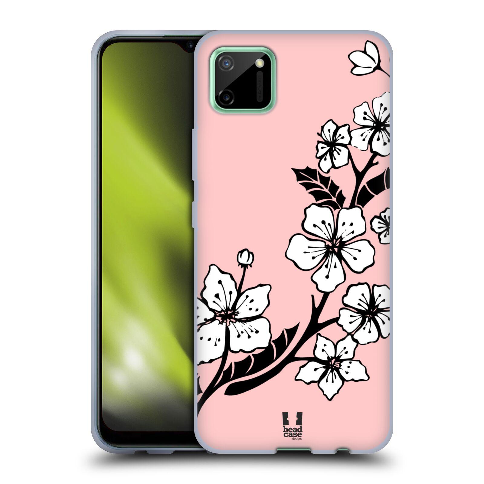 Silikonové pouzdro na mobil Realme C11 - Head Case - BLOSSOMS VINE