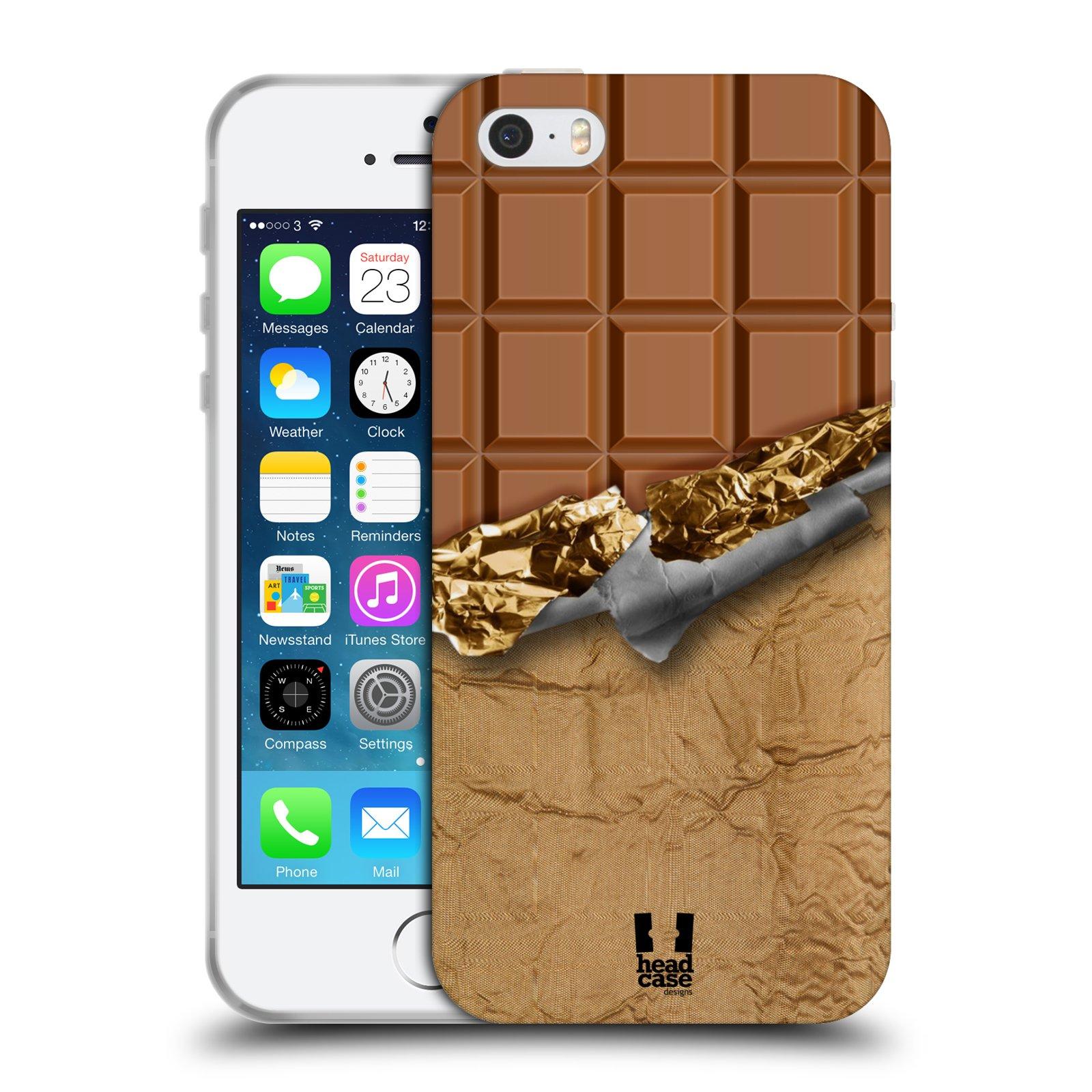 Silikonové pouzdro na mobil Apple iPhone 5, 5S, SE - Head Case - ČOKOFOILED