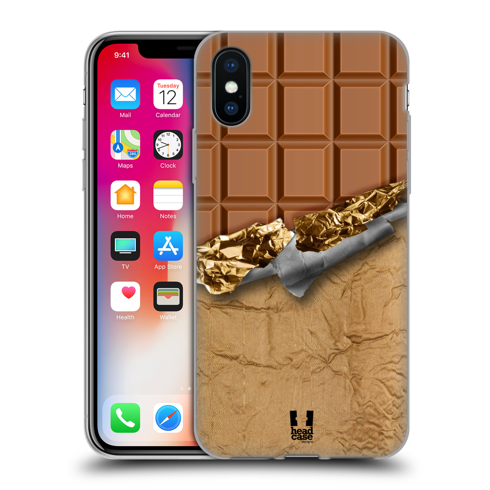 Silikonové pouzdro na mobil Apple iPhone XS - Head Case - ČOKOFOILED