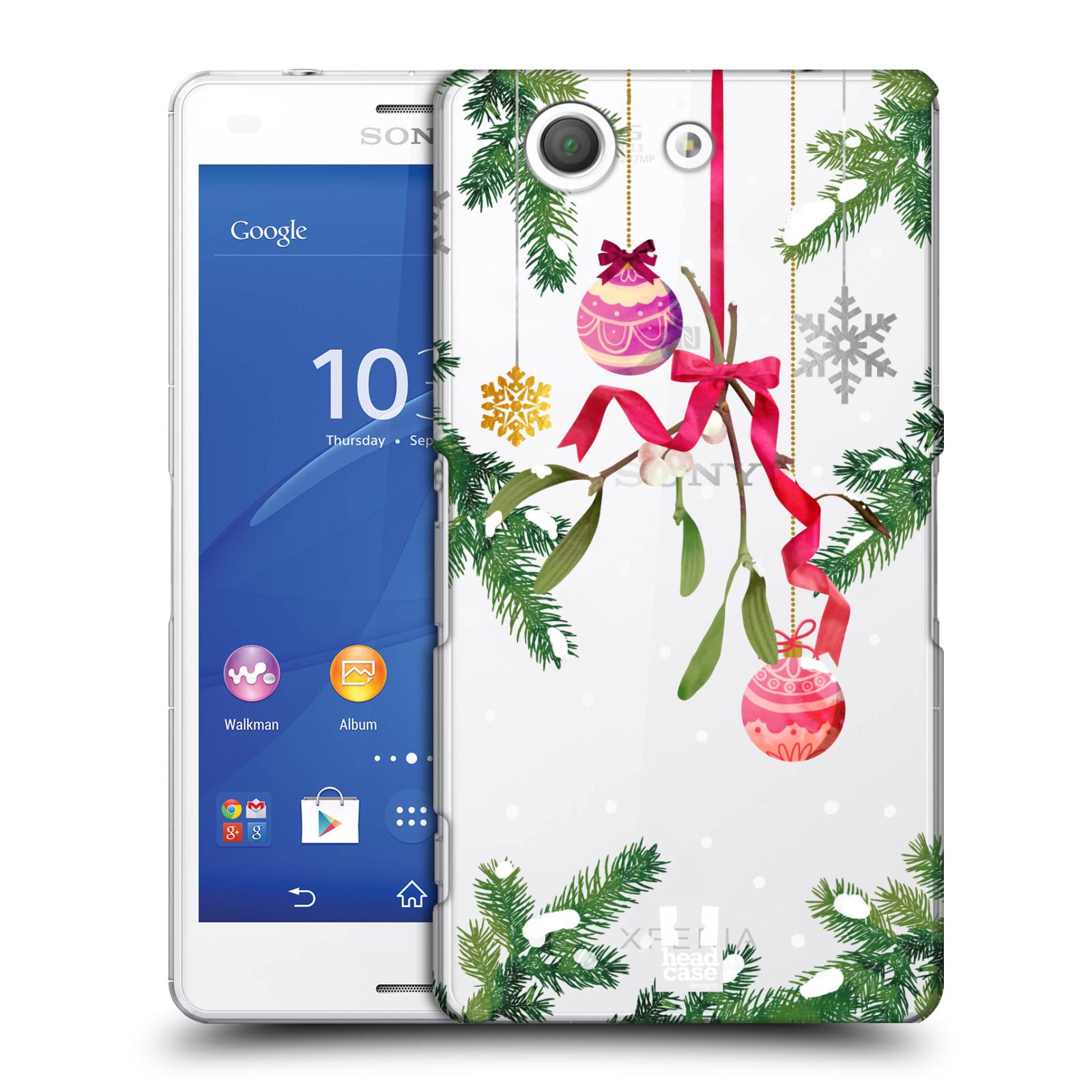 Plastové pouzdro na mobil Sony Xperia Z3 Compact D5803 - Head Case - Větvičky a vánoční ozdoby