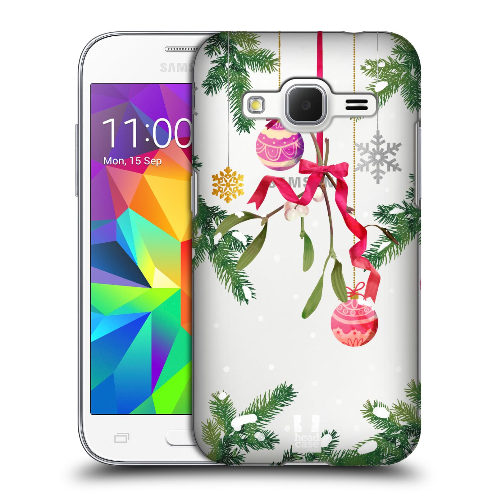 Plastové pouzdro na mobil Samsung Galaxy Core Prime LTE - Head Case - Větvičky a vánoční ozdoby