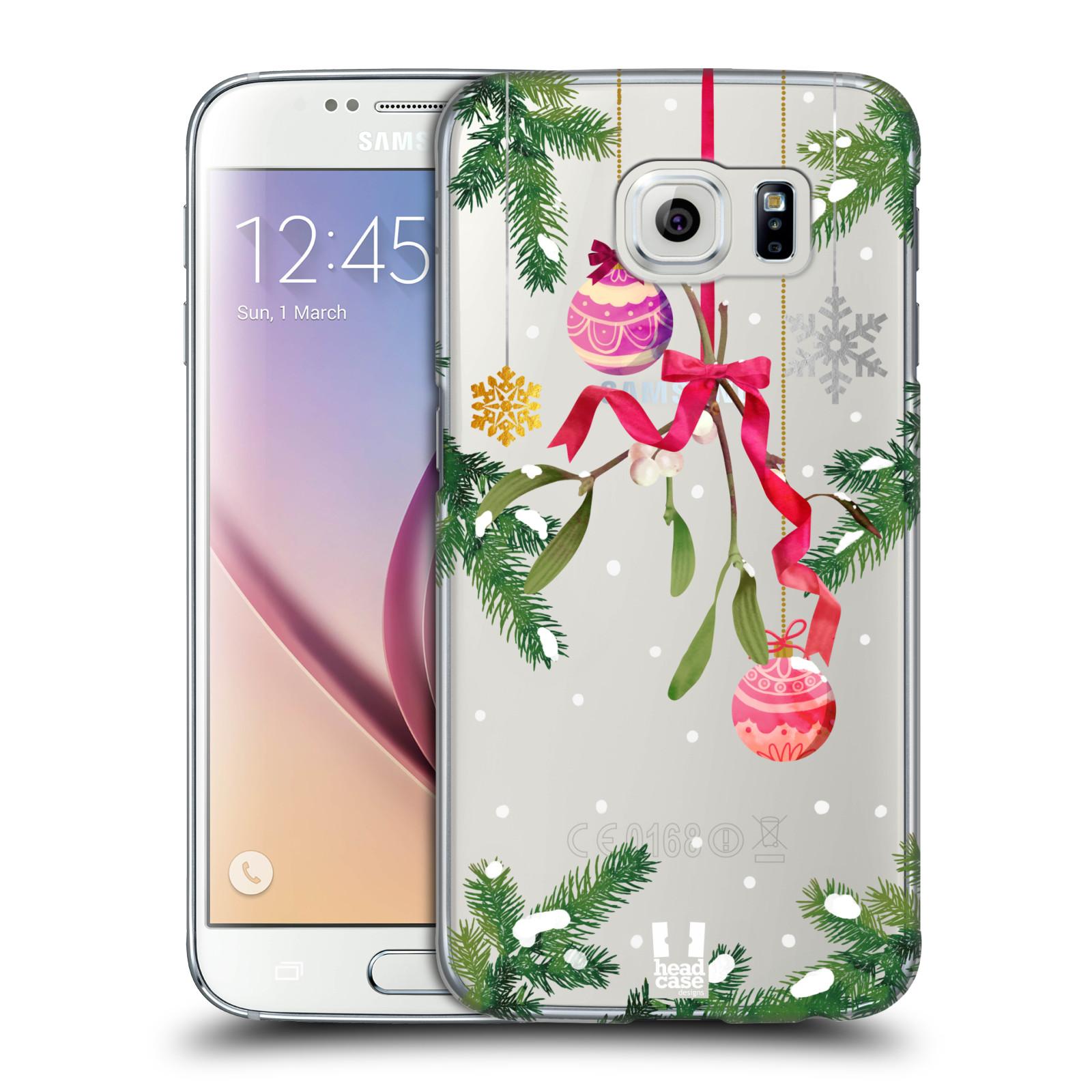 Plastové pouzdro na mobil Samsung Galaxy S6 - Head Case - Větvičky a vánoční ozdoby