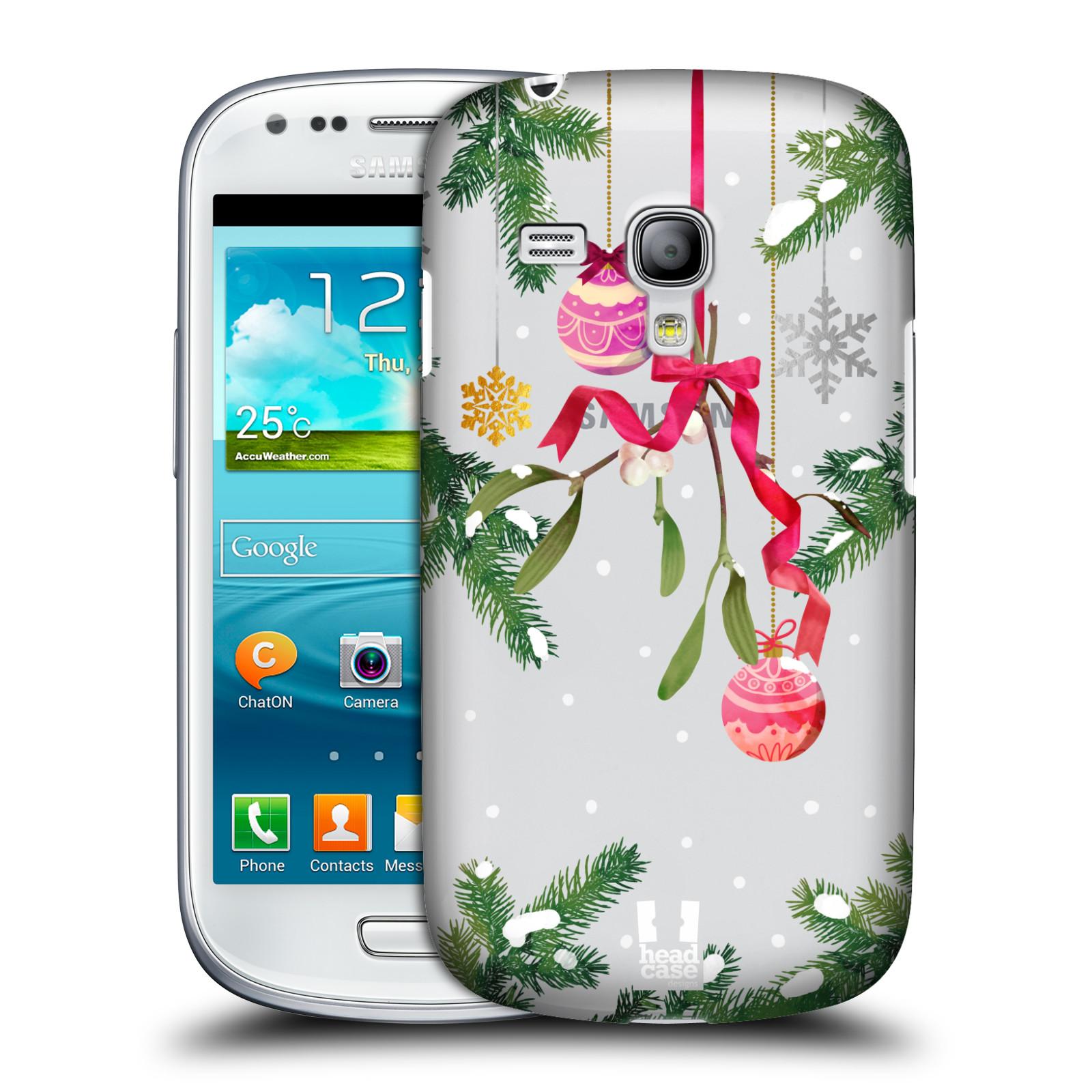 Plastové pouzdro na mobil Samsung Galaxy S III Mini - Head Case - Větvičky a vánoční ozdoby