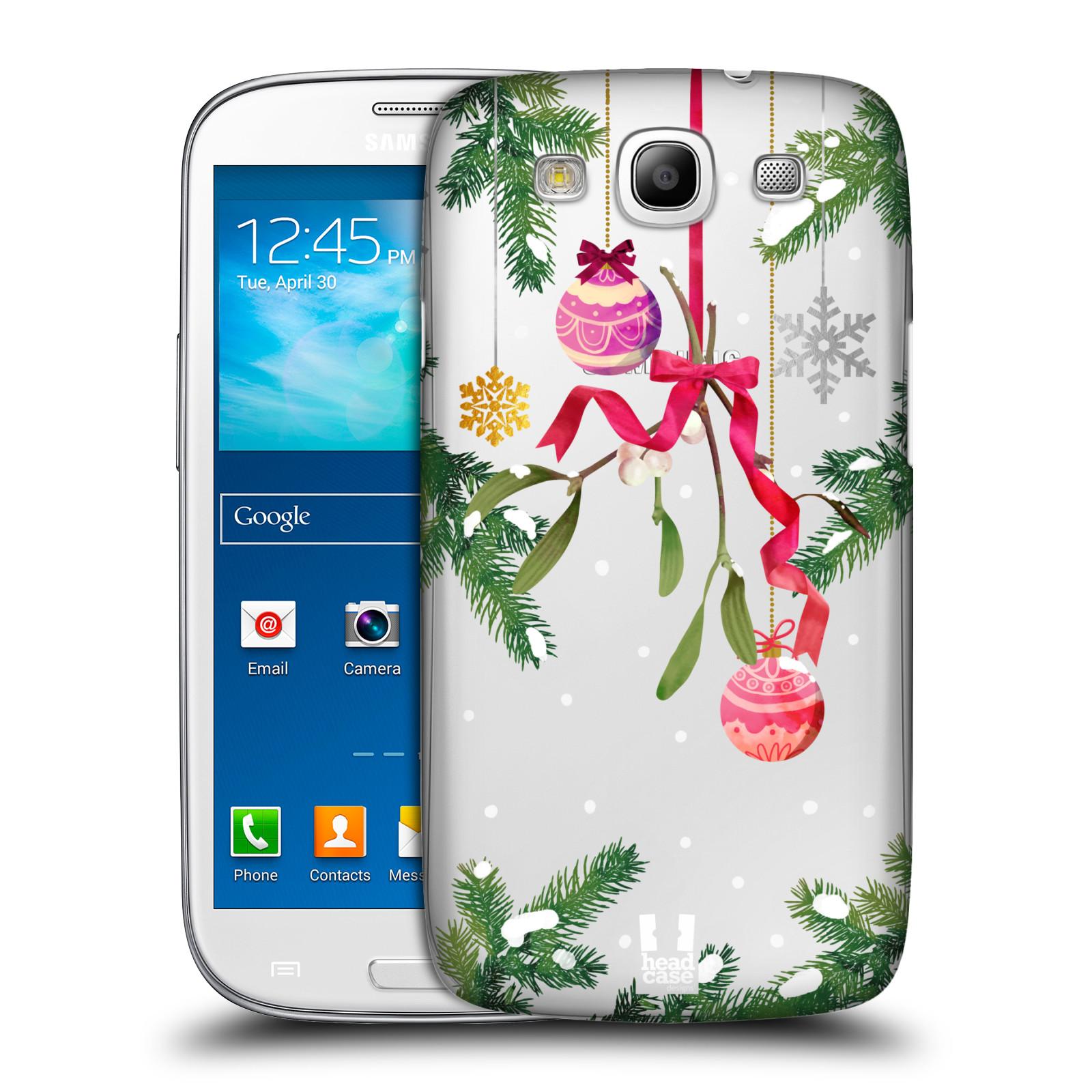 Plastové pouzdro na mobil Samsung Galaxy S III - Head Case - Větvičky a vánoční ozdoby