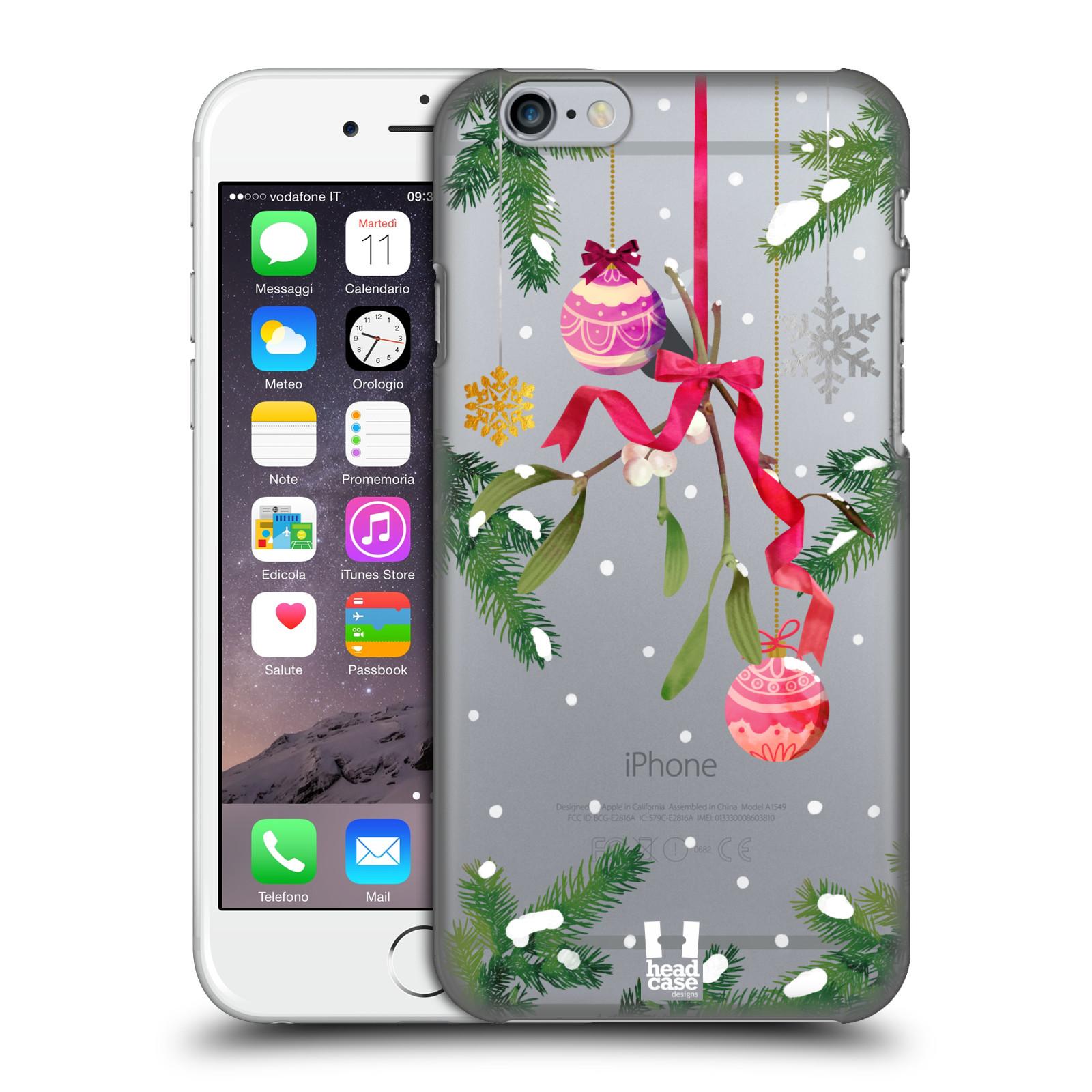 Plastové pouzdro na mobil Apple iPhone 6 - Head Case - Větvičky a vánoční ozdoby