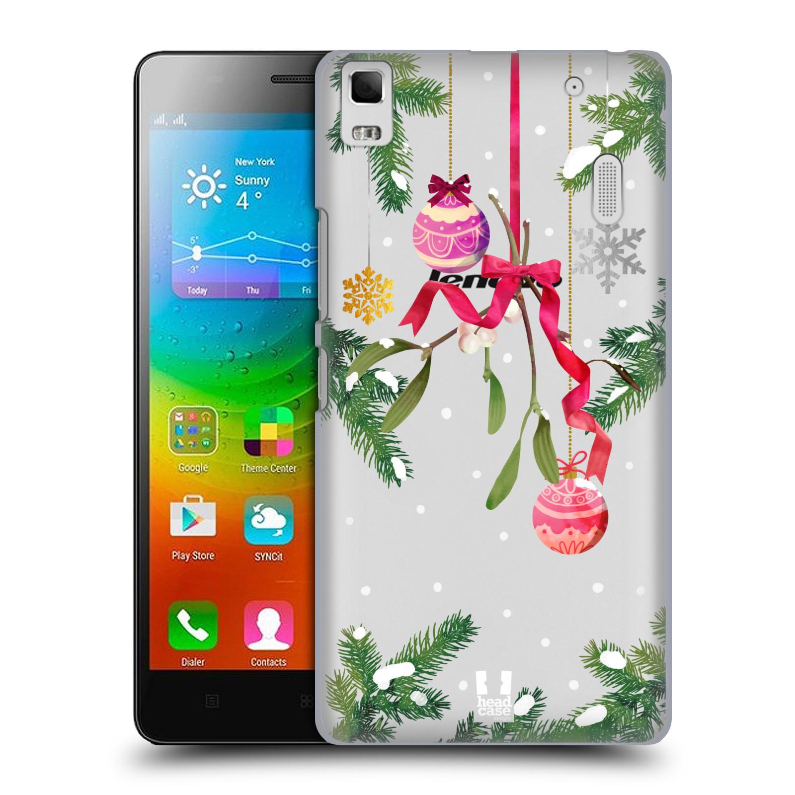 Plastové pouzdro na mobil Lenovo A7000 - Head Case - Větvičky a vánoční ozdoby