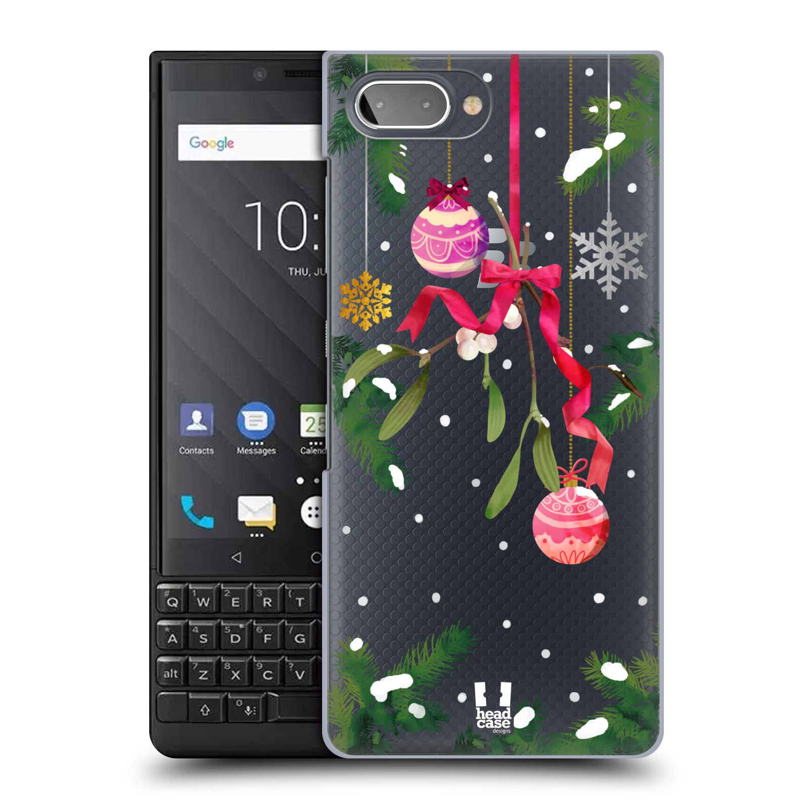 Plastové pouzdro na mobil Blackberry Key 2 - Head Case - Větvičky a vánoční ozdoby