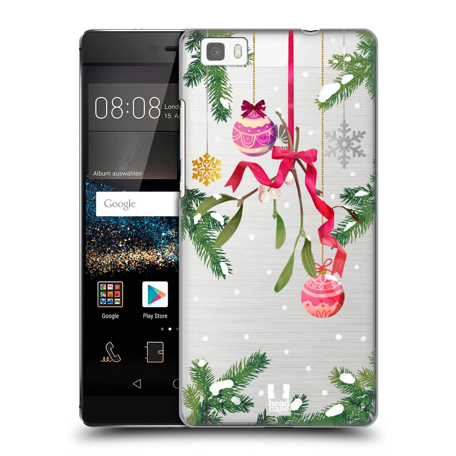 Plastové pouzdro na mobil Huawei P8 Lite - Head Case - Větvičky a vánoční ozdoby