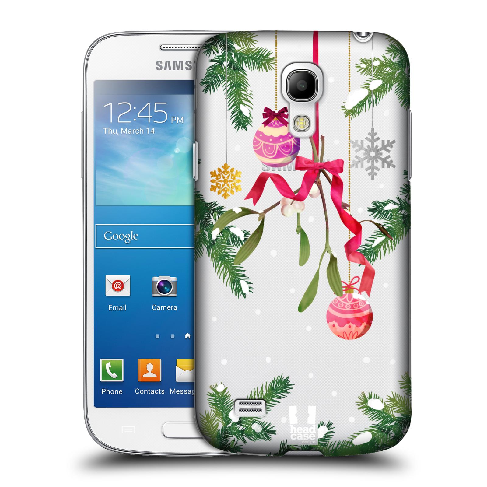 Plastové pouzdro na mobil Samsung Galaxy S4 Mini - Head Case - Větvičky a vánoční ozdoby