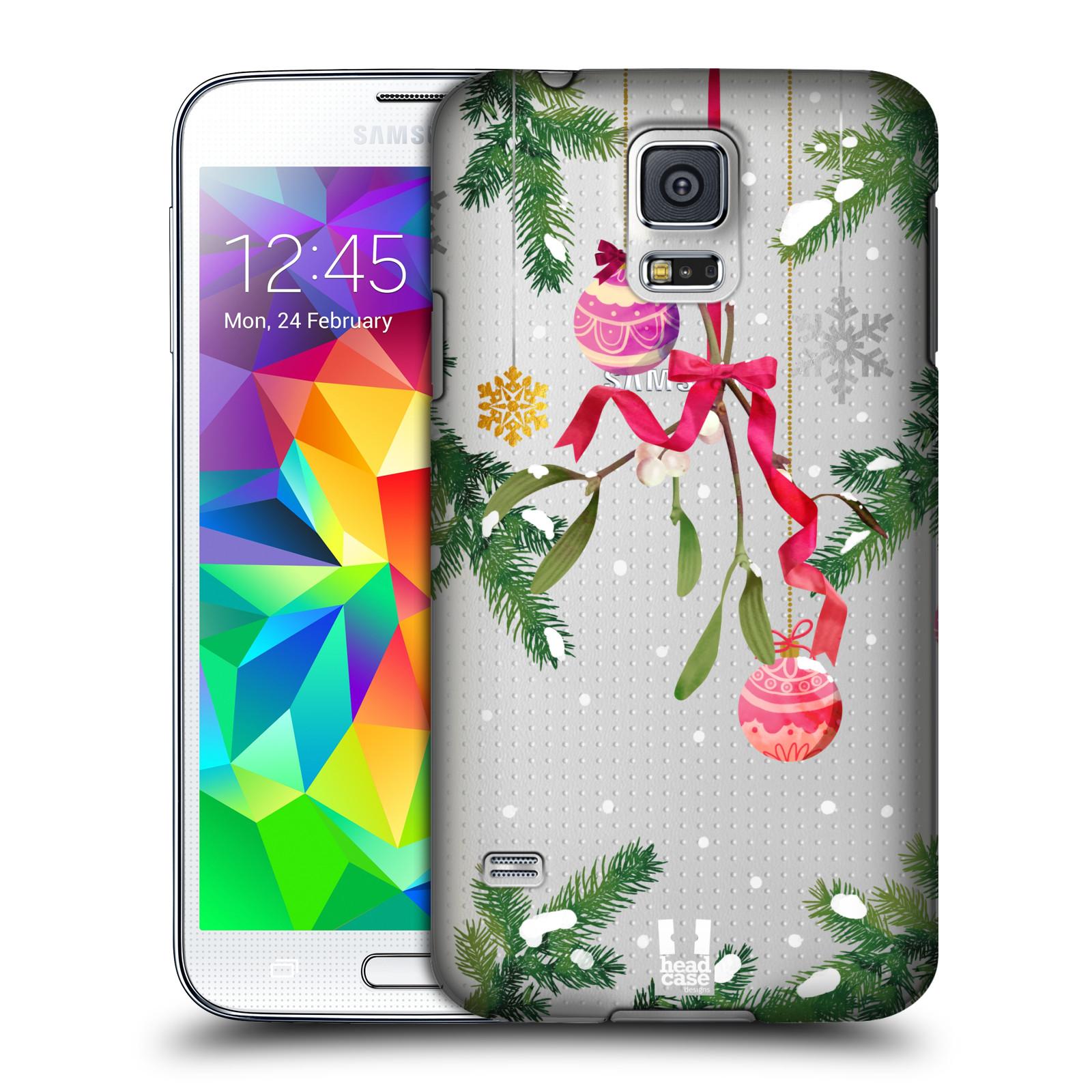 Plastové pouzdro na mobil Samsung Galaxy S5 - Head Case - Větvičky a vánoční ozdoby