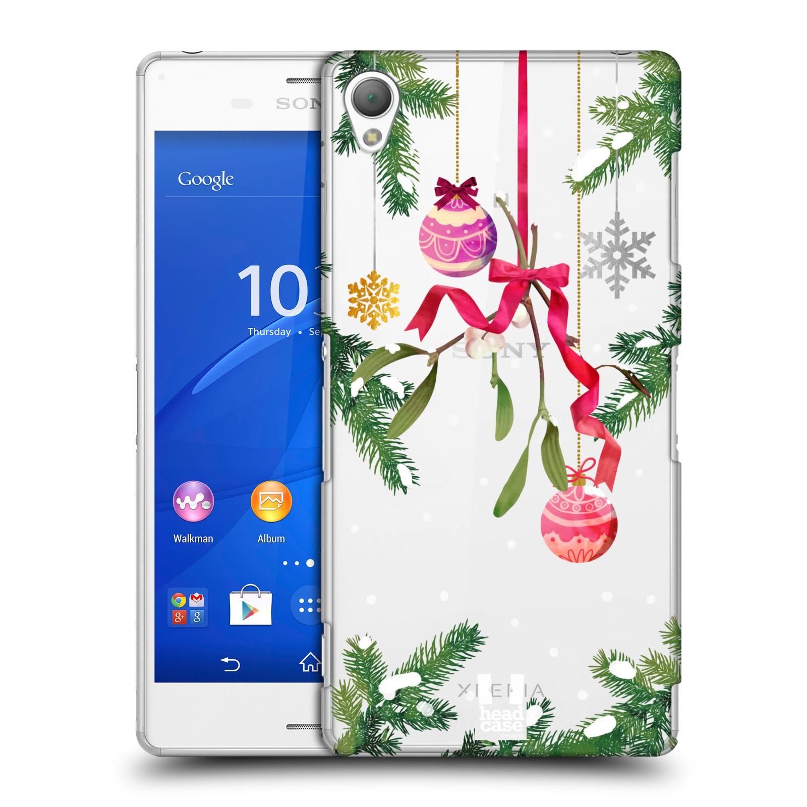 Plastové pouzdro na mobil Sony Xperia Z3 D6603 - Head Case - Větvičky a vánoční ozdoby