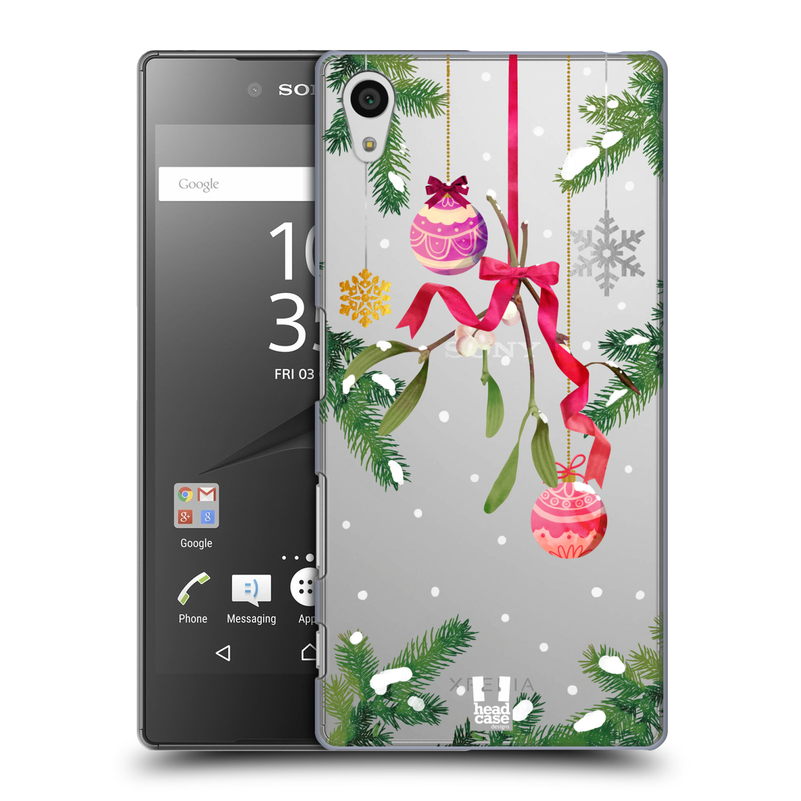 Plastové pouzdro na mobil Sony Xperia Z5 - Head Case - Větvičky a vánoční ozdoby