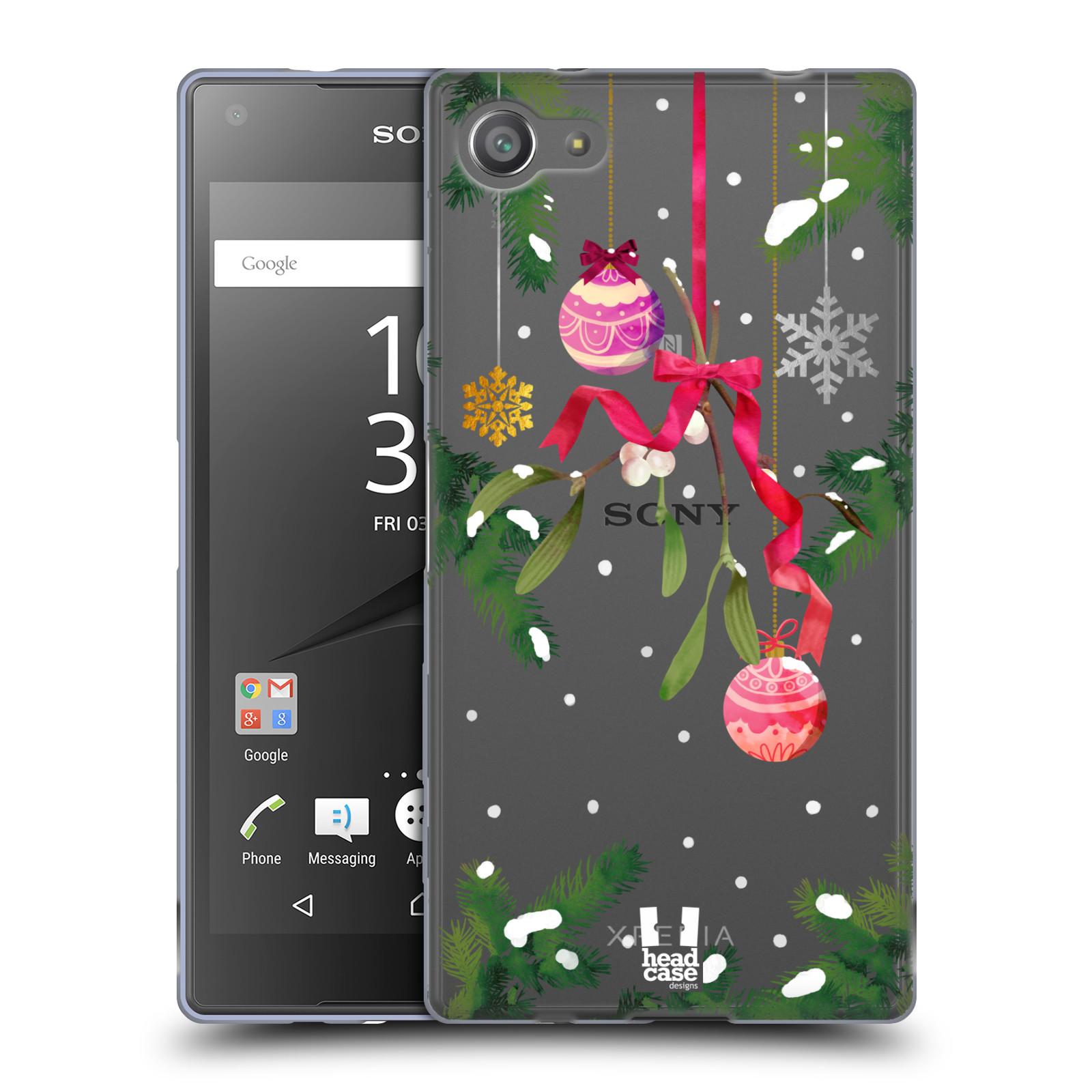 Silikonové pouzdro na mobil Sony Xperia Z5 Compact - Head Case - Větvičky a vánoční ozdoby