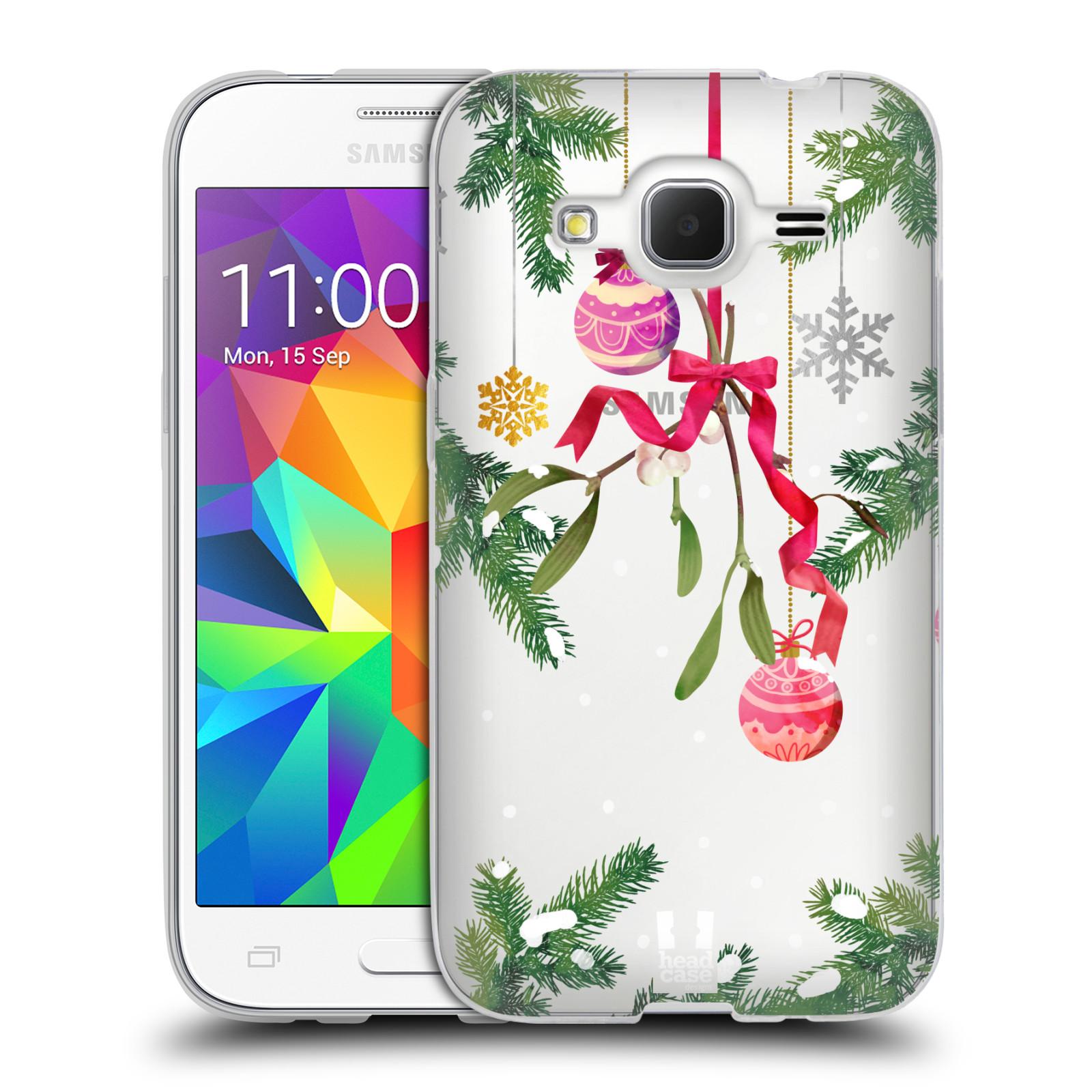 Silikonové pouzdro na mobil Samsung Galaxy Core Prime VE - Head Case - Větvičky a vánoční ozdoby