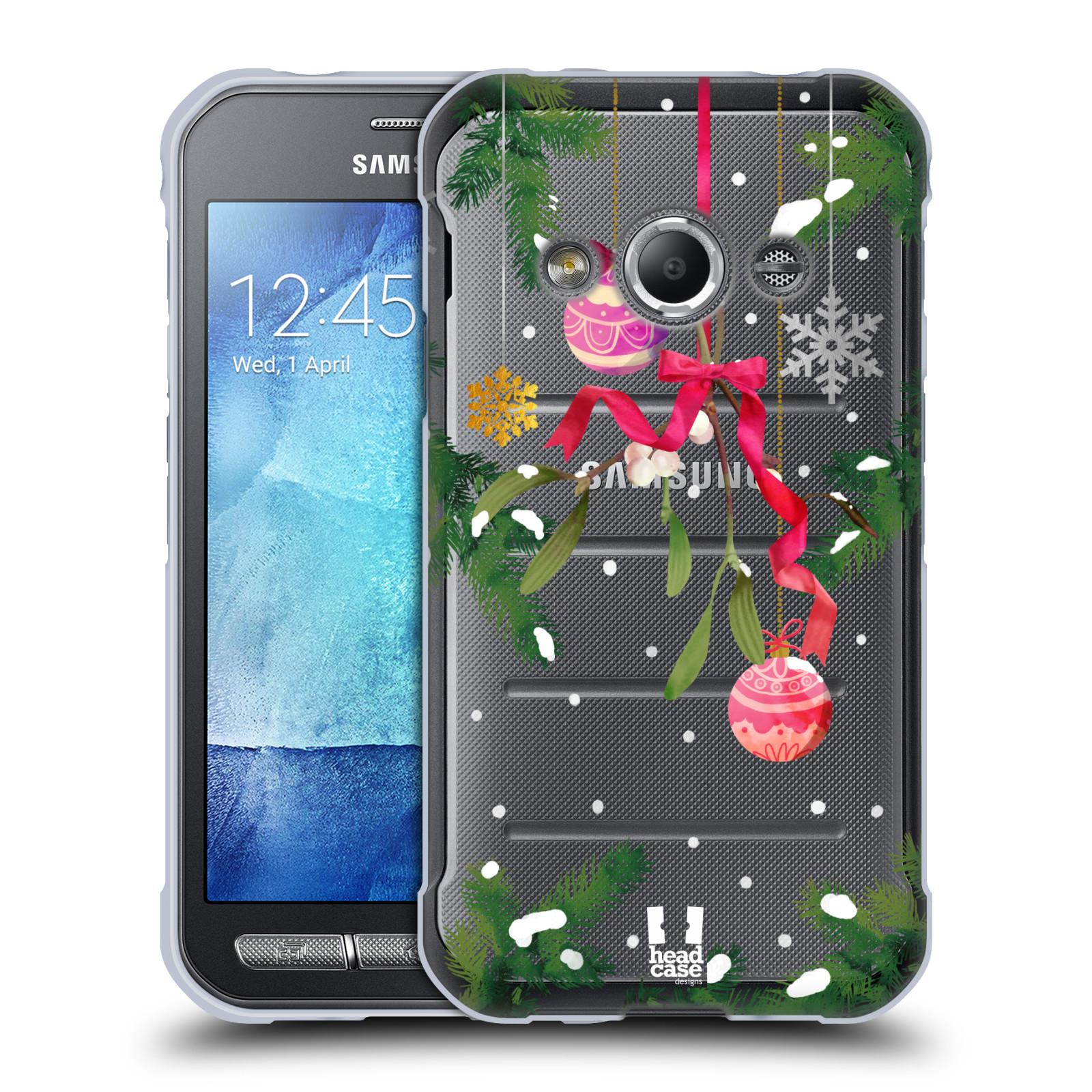 Silikonové pouzdro na mobil Samsung Galaxy Xcover 3 - Head Case - Větvičky a vánoční ozdoby