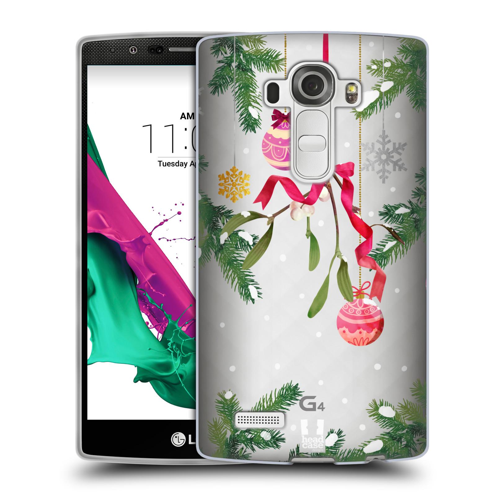 Silikonové pouzdro na mobil LG G4 - Head Case - Větvičky a vánoční ozdoby