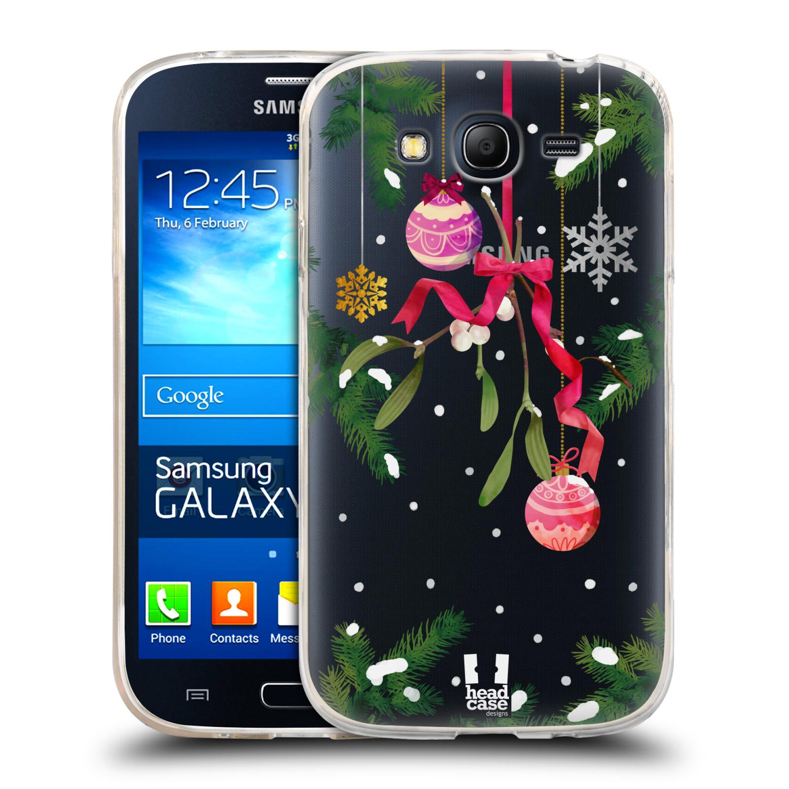 Silikonové pouzdro na mobil Samsung Galaxy Grand Neo - Head Case - Větvičky a vánoční ozdoby
