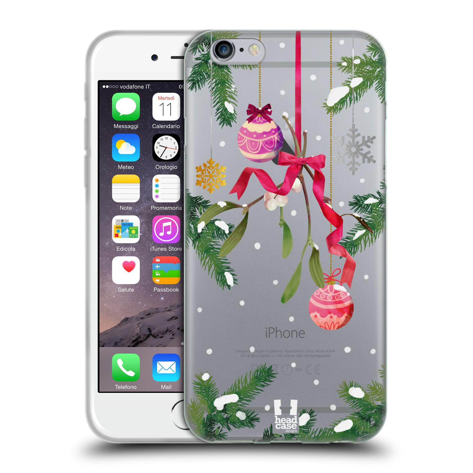 Silikonové pouzdro na mobil Apple iPhone 6 - Head Case - Větvičky a vánoční ozdoby