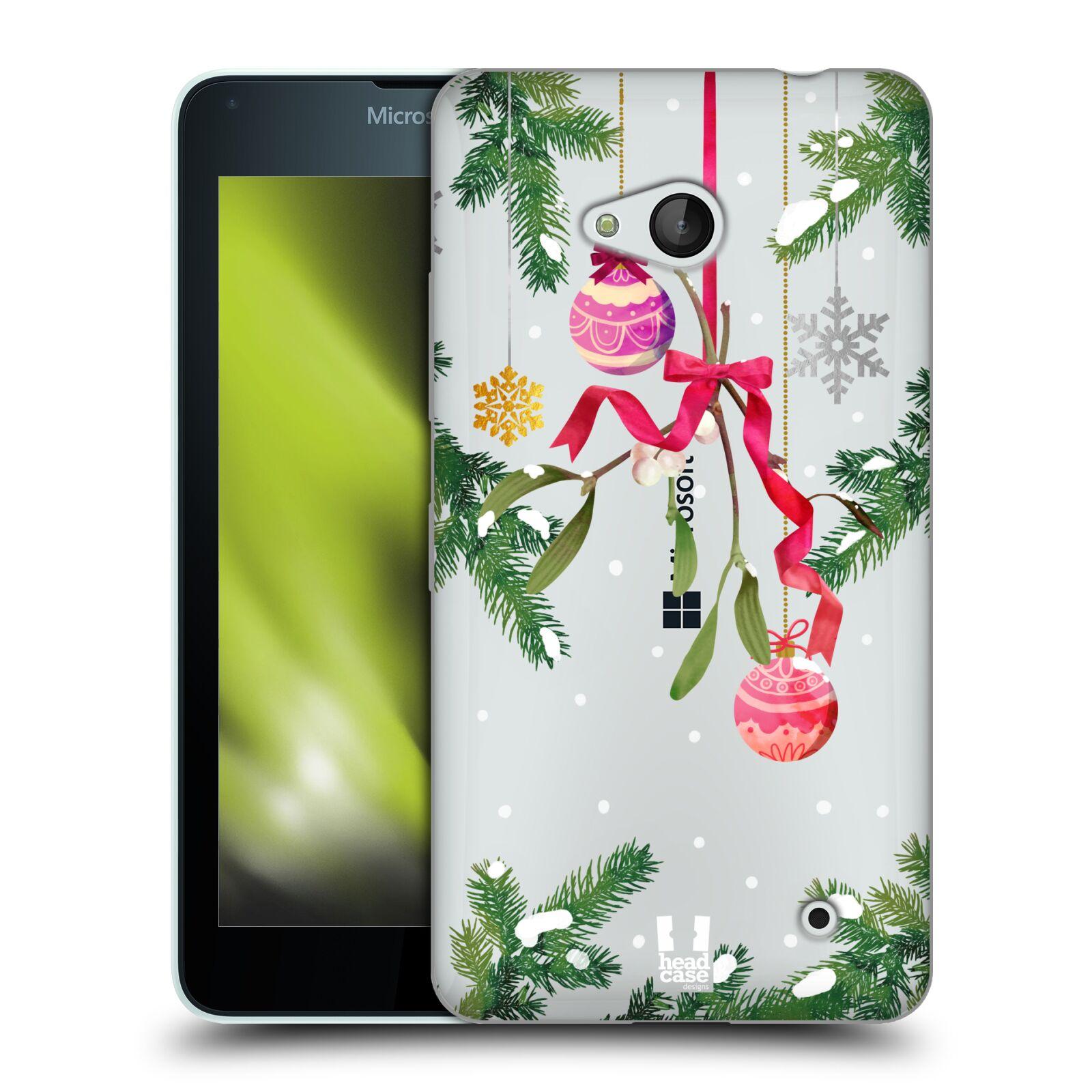 Silikonové pouzdro na mobil Microsoft Lumia 640 - Head Case - Větvičky a vánoční ozdoby