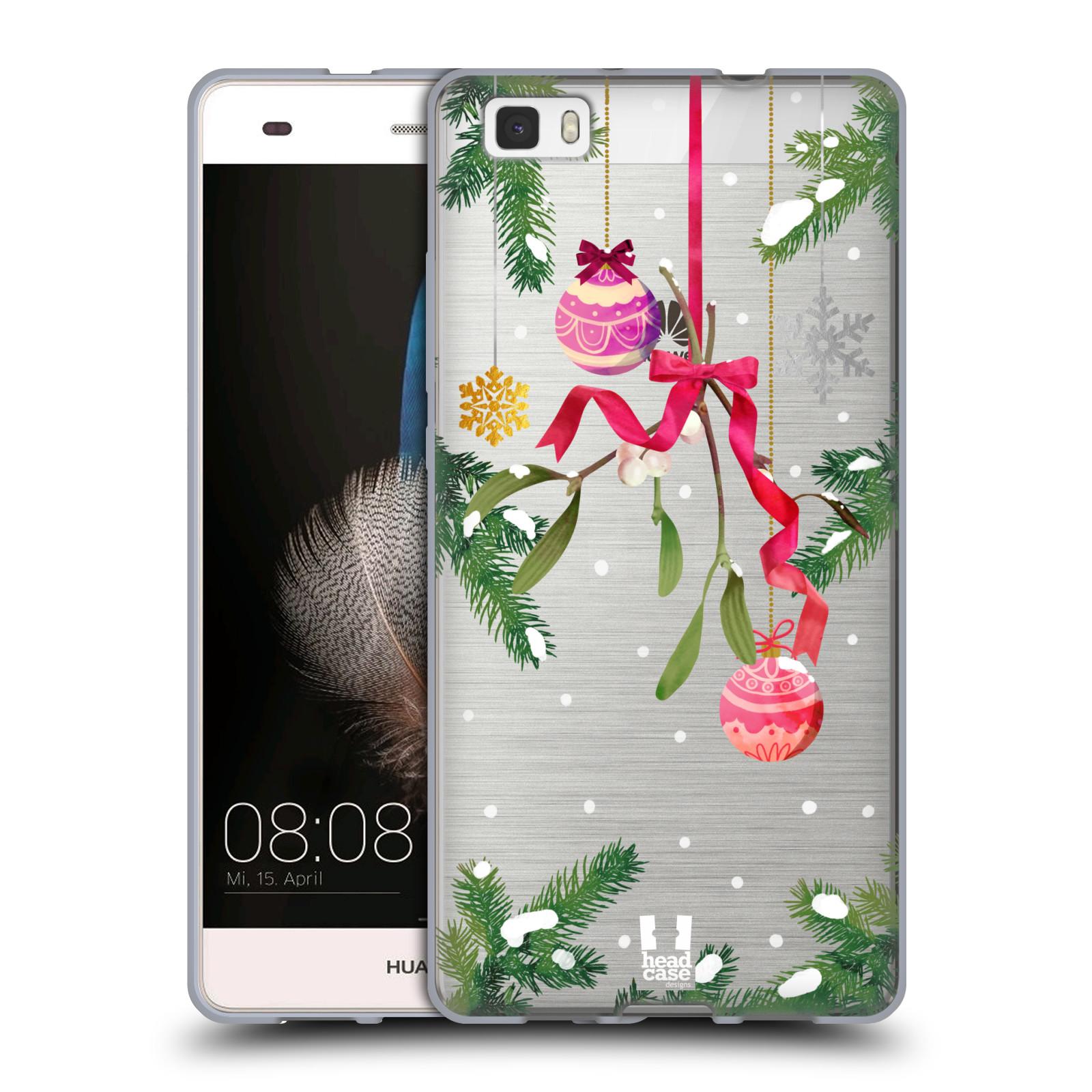 Silikonové pouzdro na mobil Huawei P8 Lite - Head Case - Větvičky a vánoční ozdoby