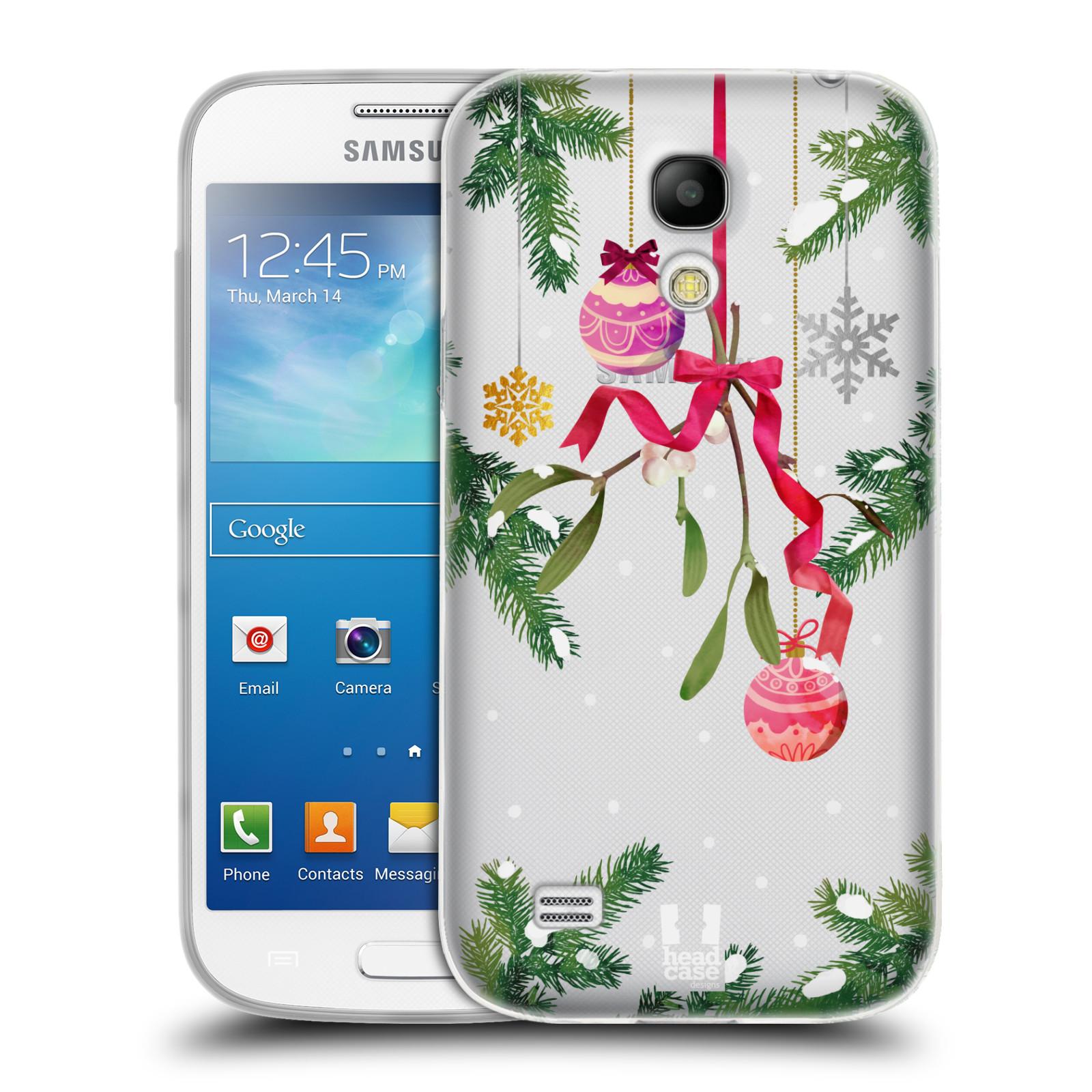 Silikonové pouzdro na mobil Samsung Galaxy S4 Mini - Head Case - Větvičky a vánoční ozdoby