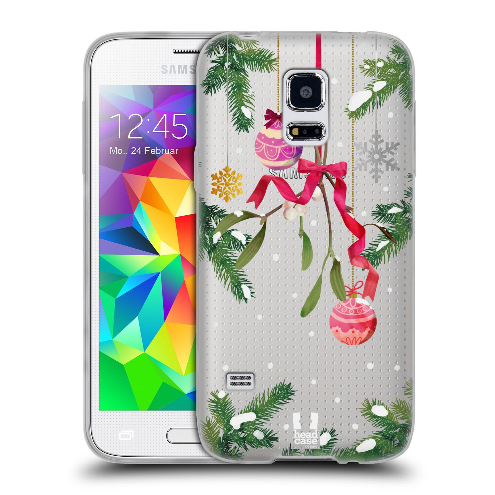 Silikonové pouzdro na mobil Samsung Galaxy S5 Mini - Head Case - Větvičky a vánoční ozdoby