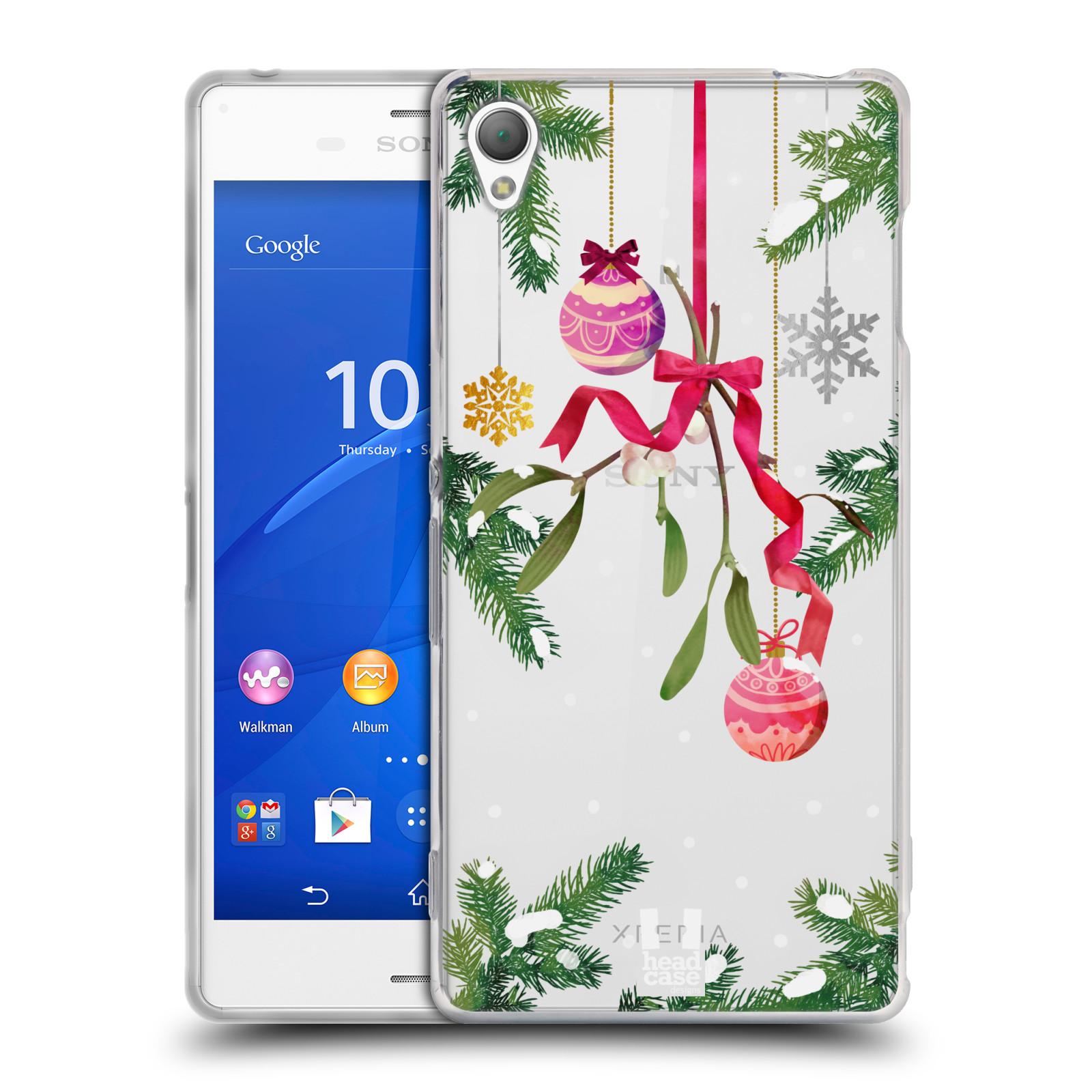 Silikonové pouzdro na mobil Sony Xperia Z3 D6603 - Head Case - Větvičky a vánoční ozdoby