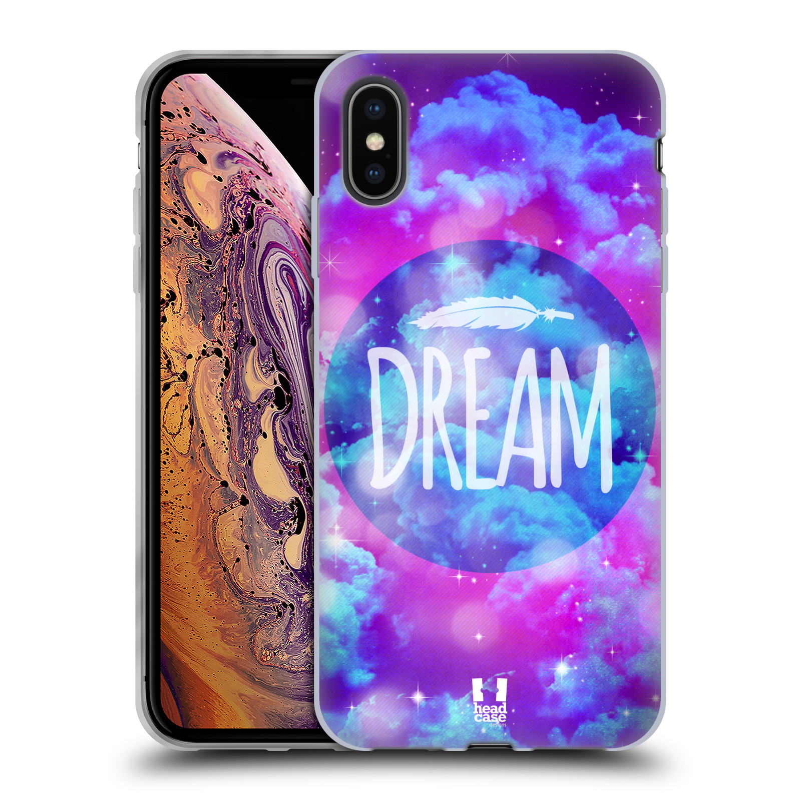 Silikonové pouzdro na mobil Apple iPhone XS Max - Head Case - CHROMATIC DREAM