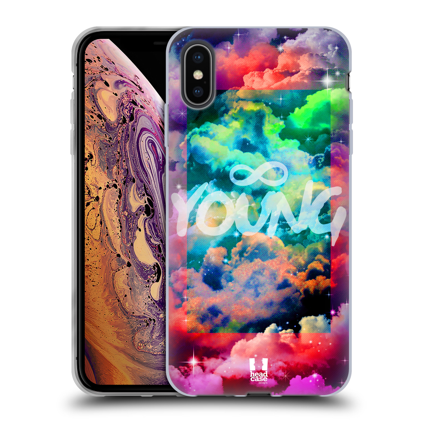 Silikonové pouzdro na mobil Apple iPhone XS Max - Head Case - CHROMATIC YOUNG