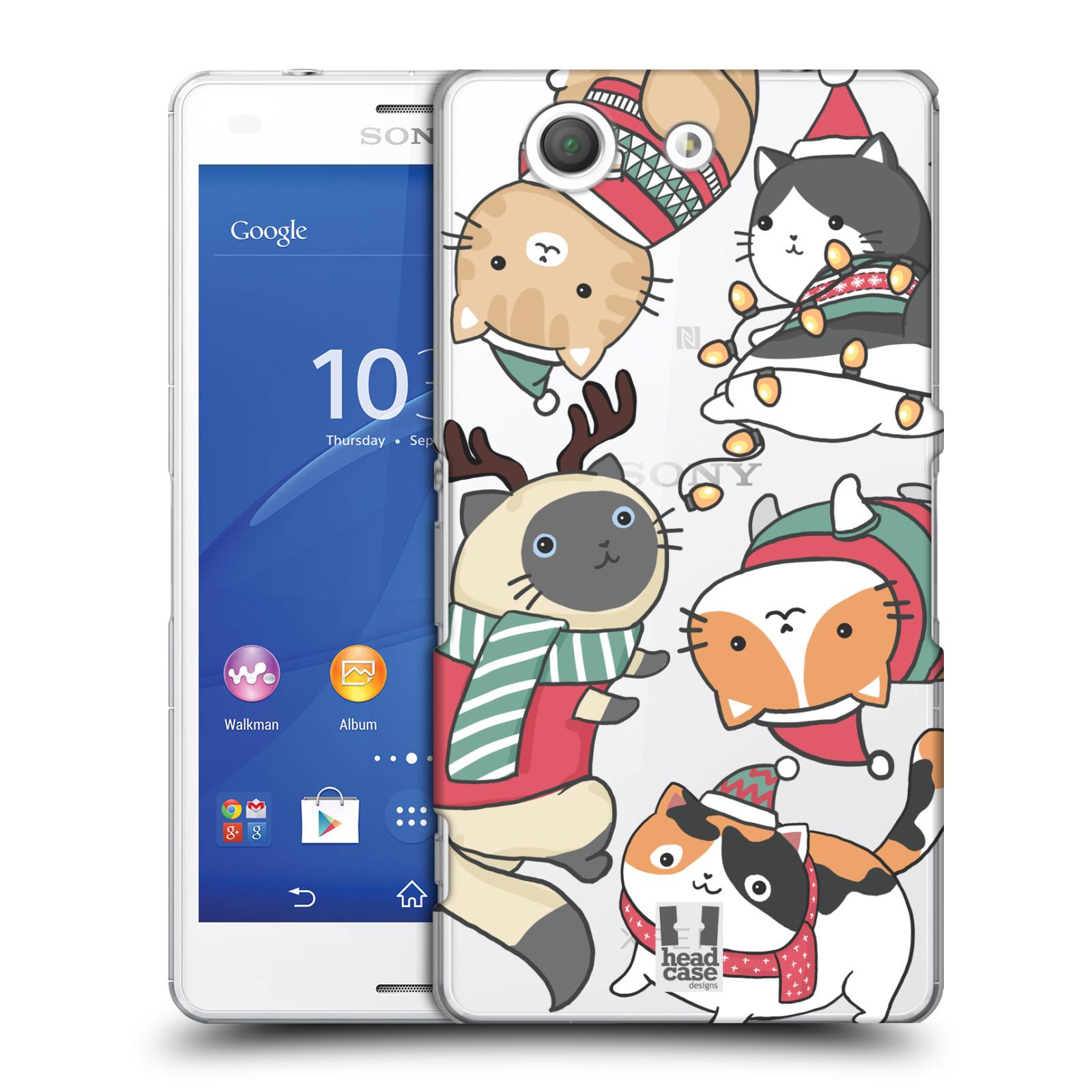 Plastové pouzdro na mobil Sony Xperia Z3 Compact D5803 - Head Case - Vánoční kočičky