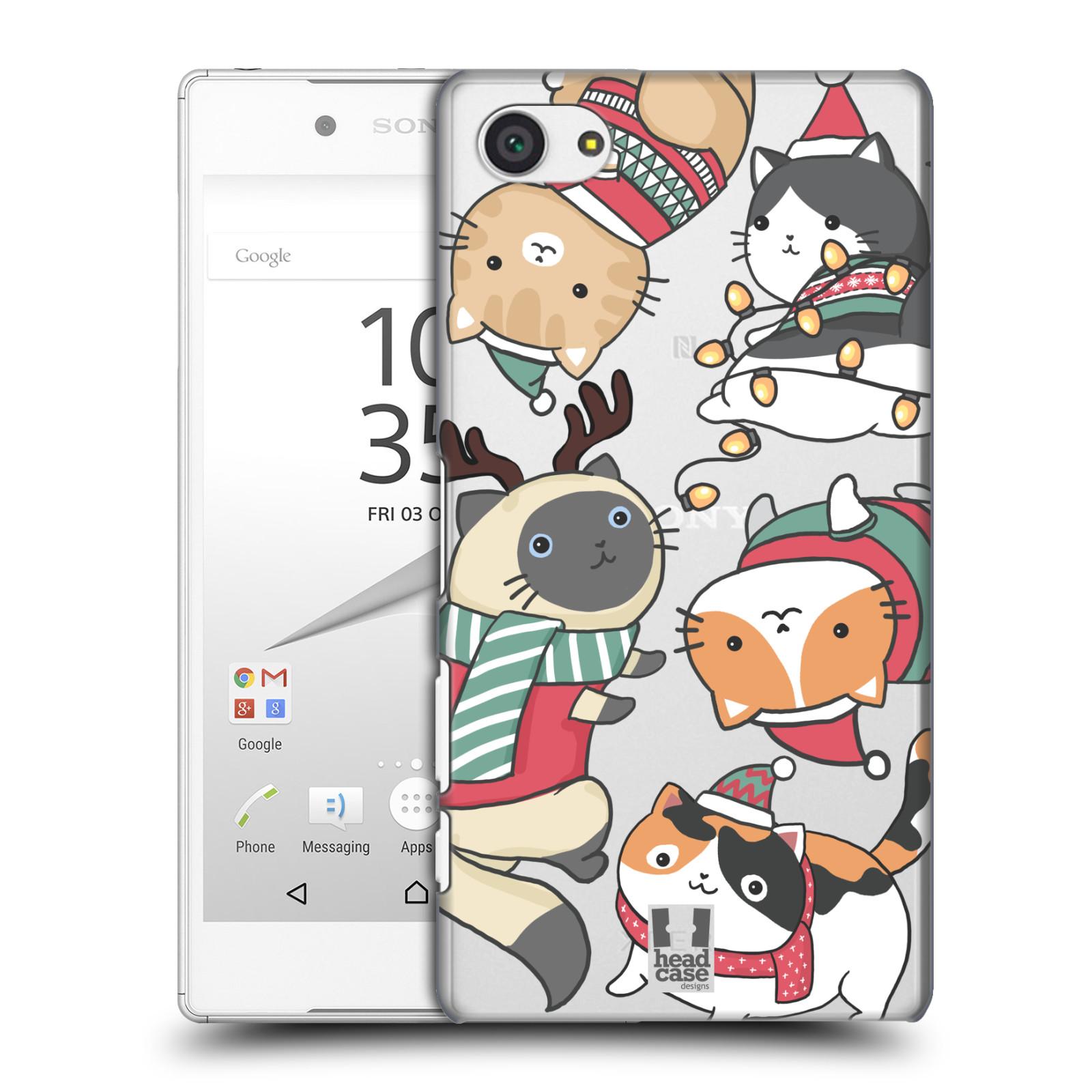 Plastové pouzdro na mobil Sony Xperia Z5 Compact - Head Case - Vánoční kočičky