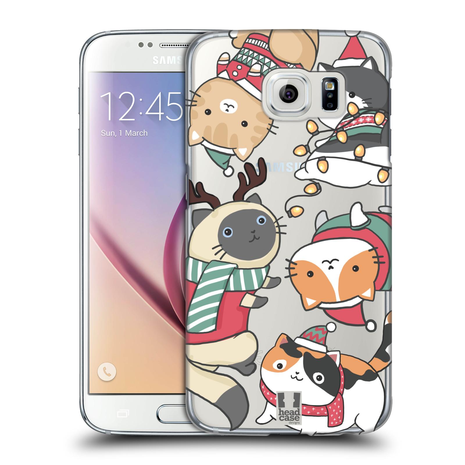 Plastové pouzdro na mobil Samsung Galaxy S6 - Head Case - Vánoční kočičky