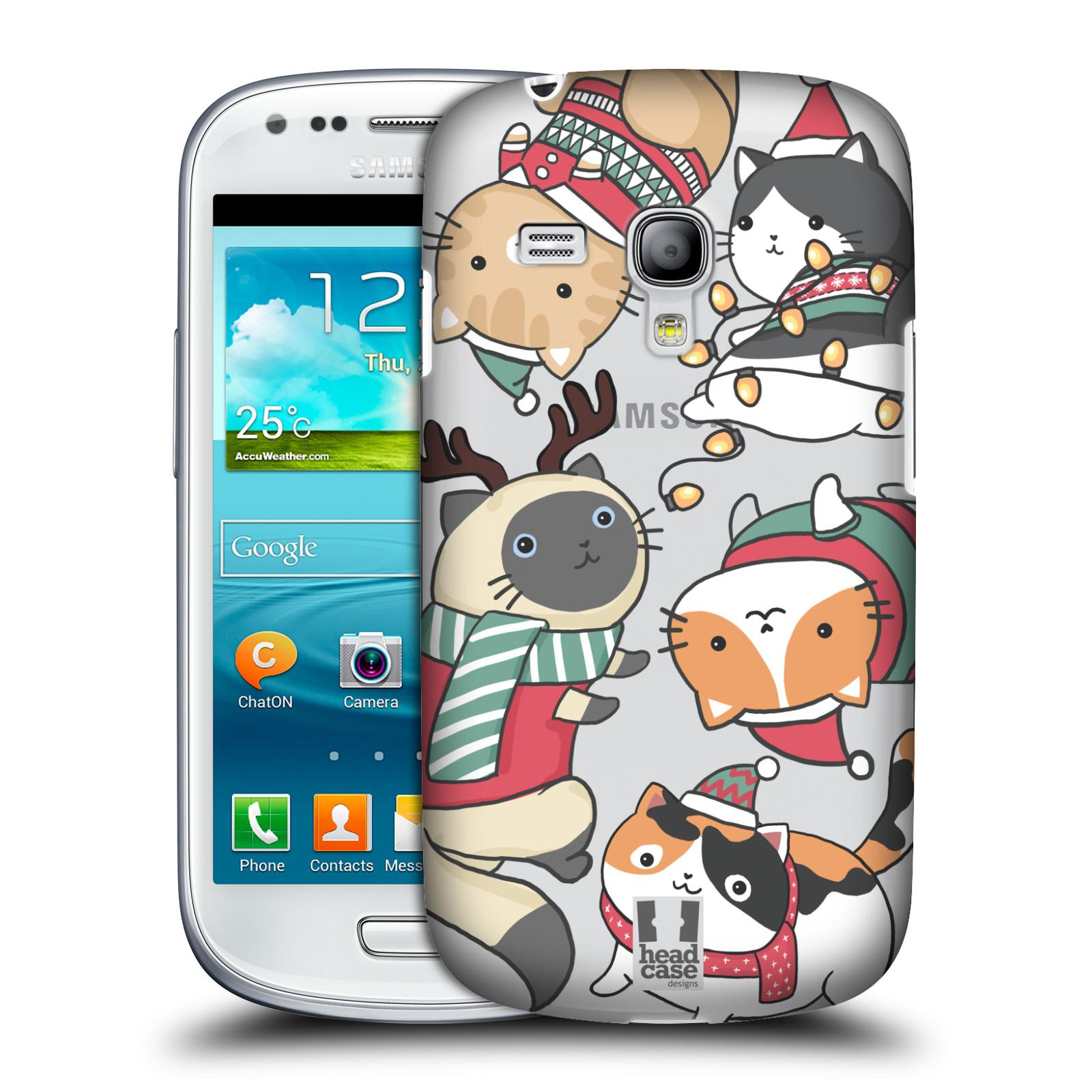 Plastové pouzdro na mobil Samsung Galaxy S III Mini - Head Case - Vánoční kočičky