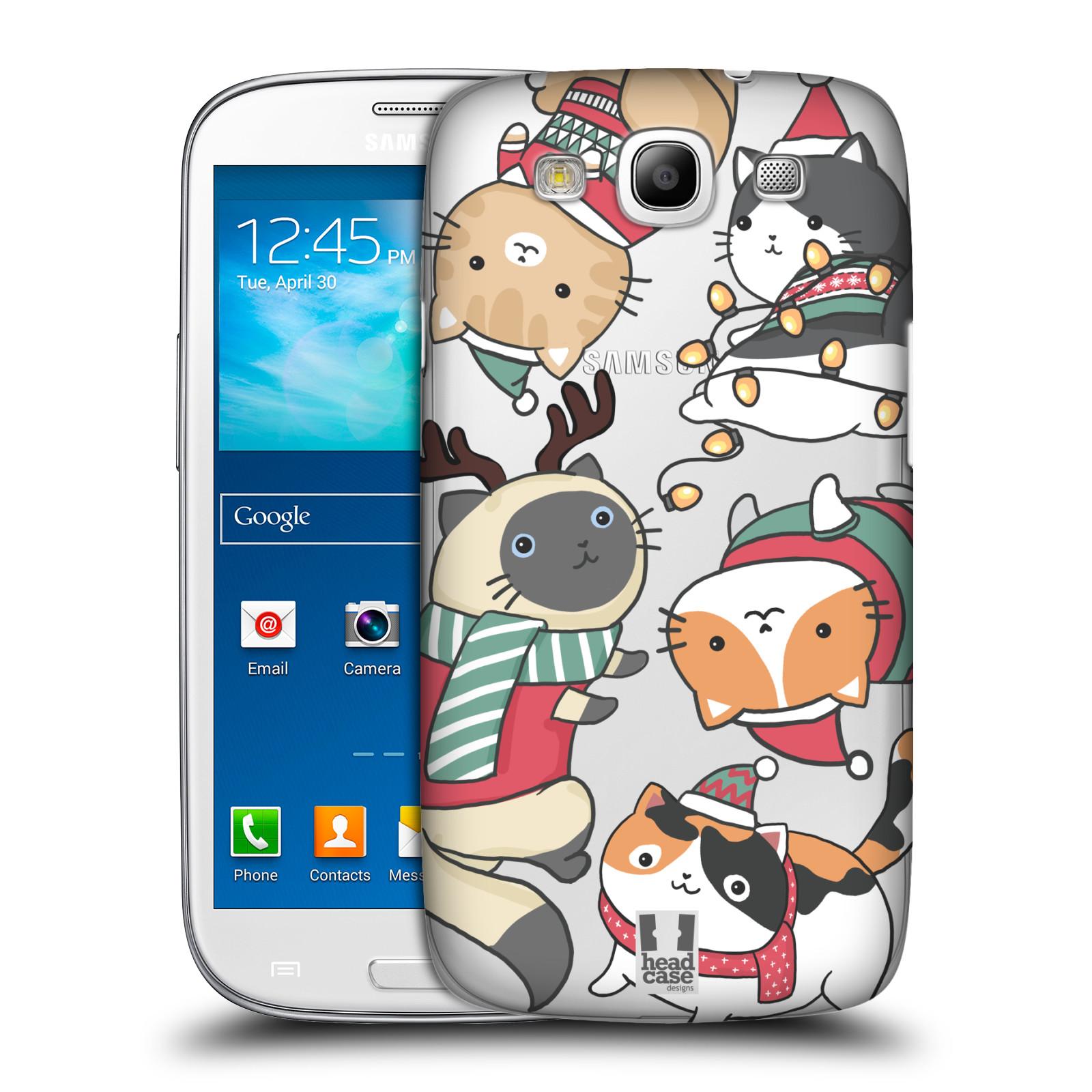Plastové pouzdro na mobil Samsung Galaxy S III - Head Case - Vánoční kočičky