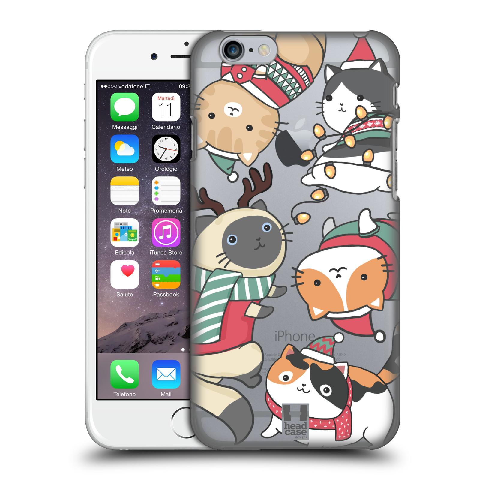 Plastové pouzdro na mobil Apple iPhone 6 - Head Case - Vánoční kočičky