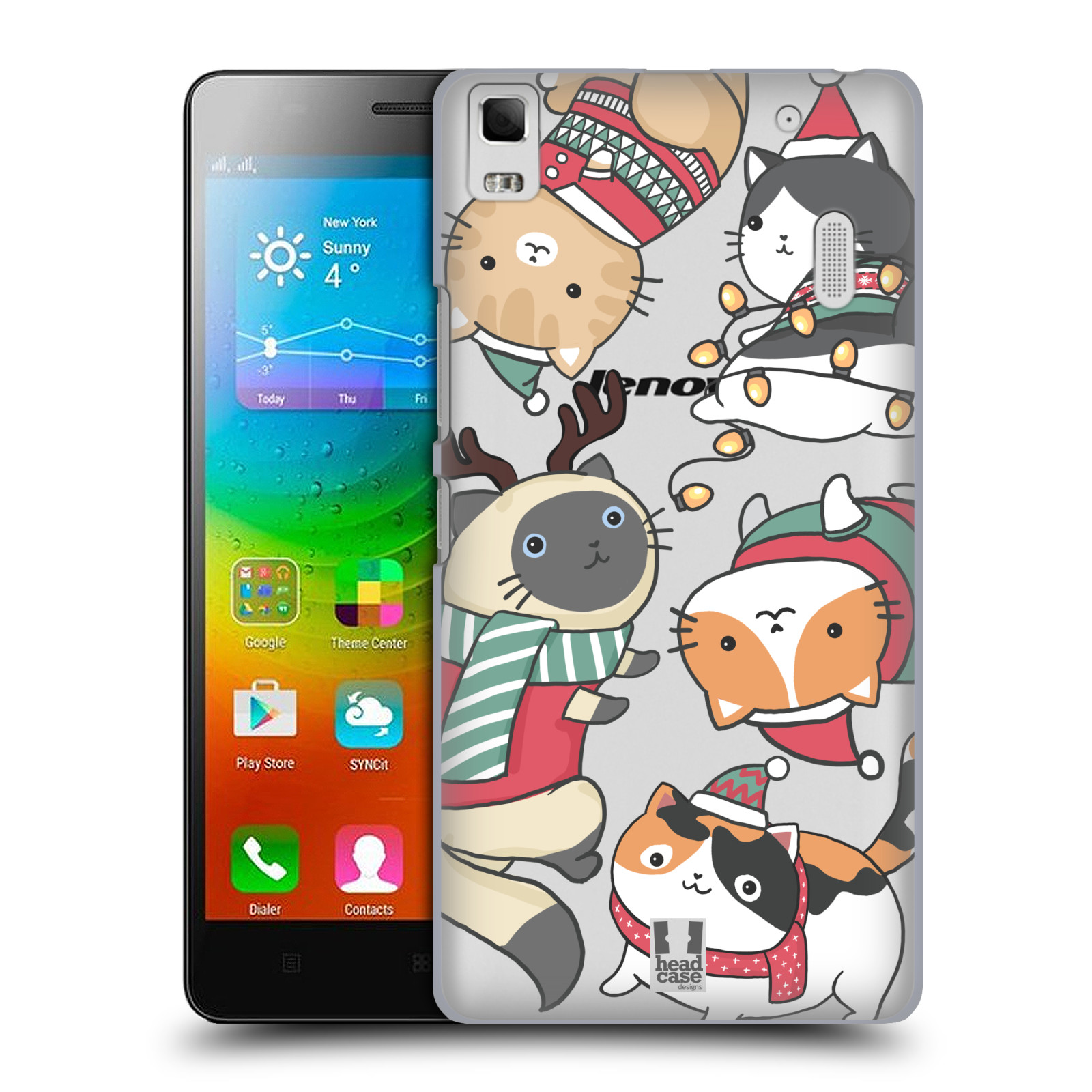 Plastové pouzdro na mobil Lenovo A7000 - Head Case - Vánoční kočičky
