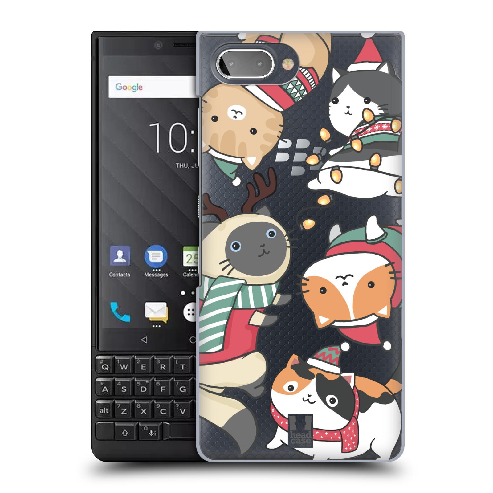 Plastové pouzdro na mobil Blackberry Key 2 - Head Case - Vánoční kočičky